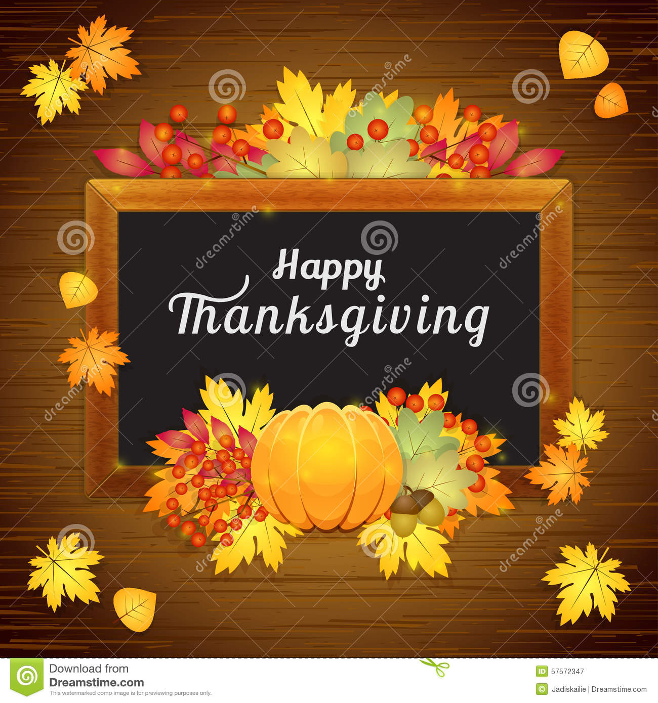 Happy thanksgiving card stock vector illustration of autumnal happy thanksgiving card kristyandbryce Choice Image