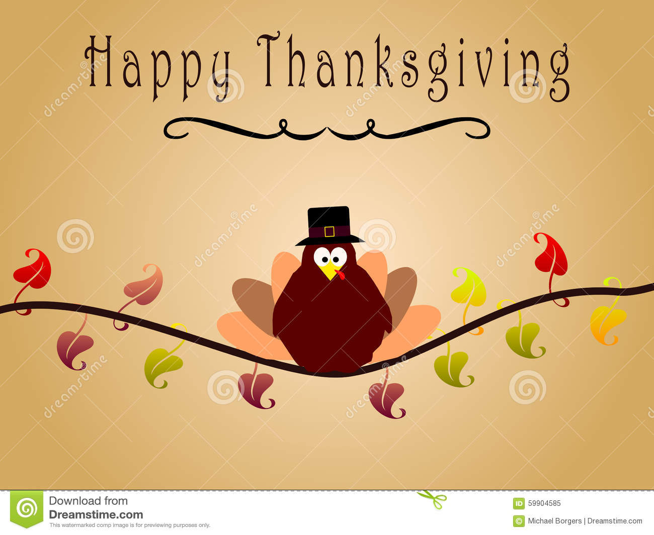 Happy thanksgiving card with turkey stock image image of branch happy thanksgiving card with turkey kristyandbryce Choice Image