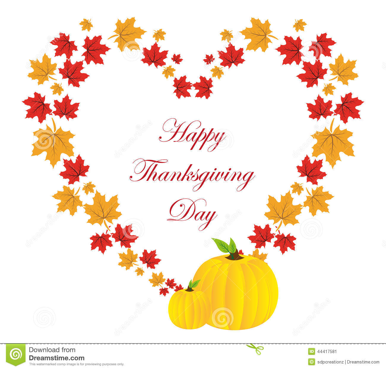 Happy Thanksgiving Day Background Stock Vector - Illustration of blank,  frame: 44417581