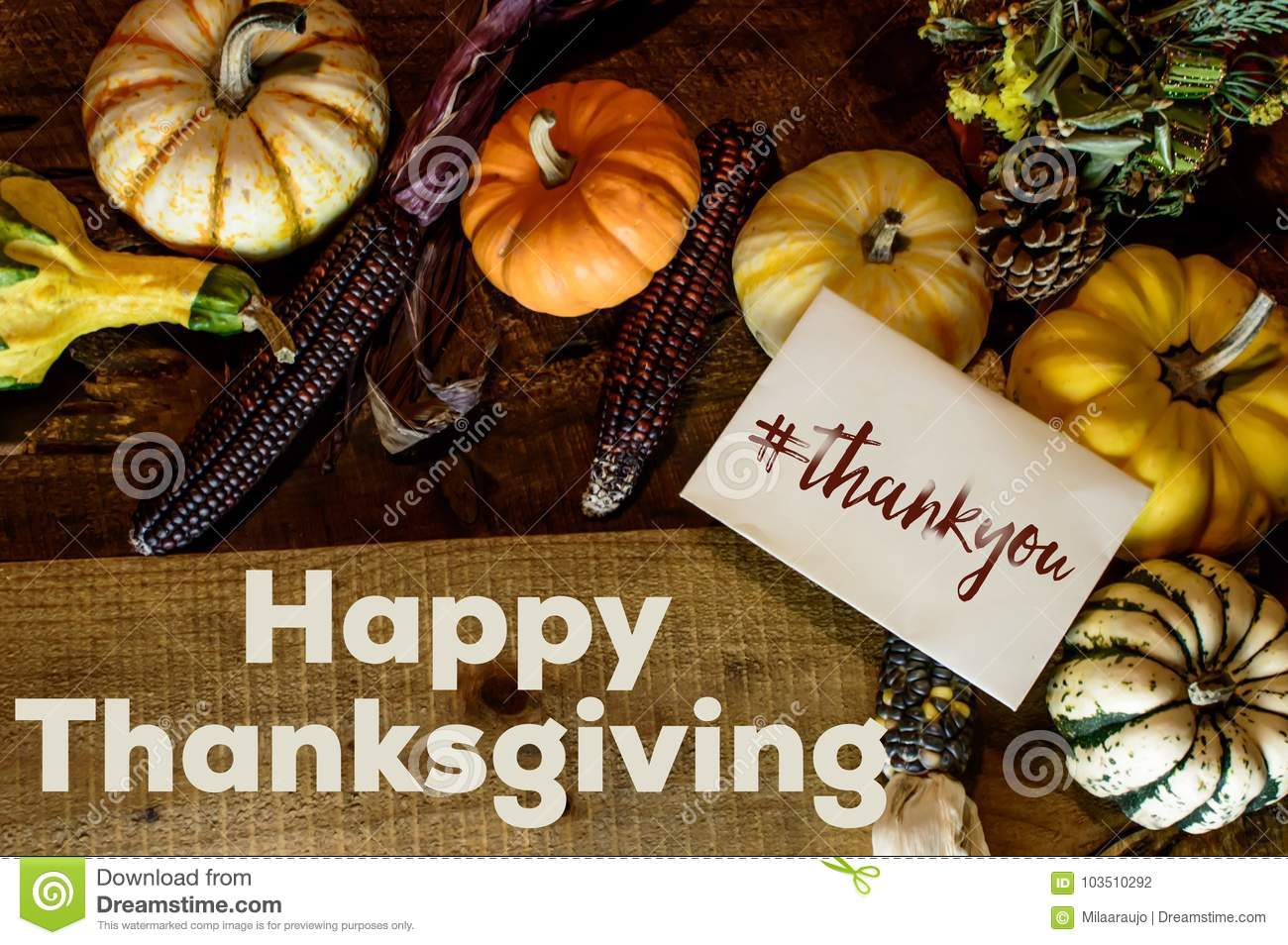 happy thanksgiving day card writing thank you with hashtag social share image