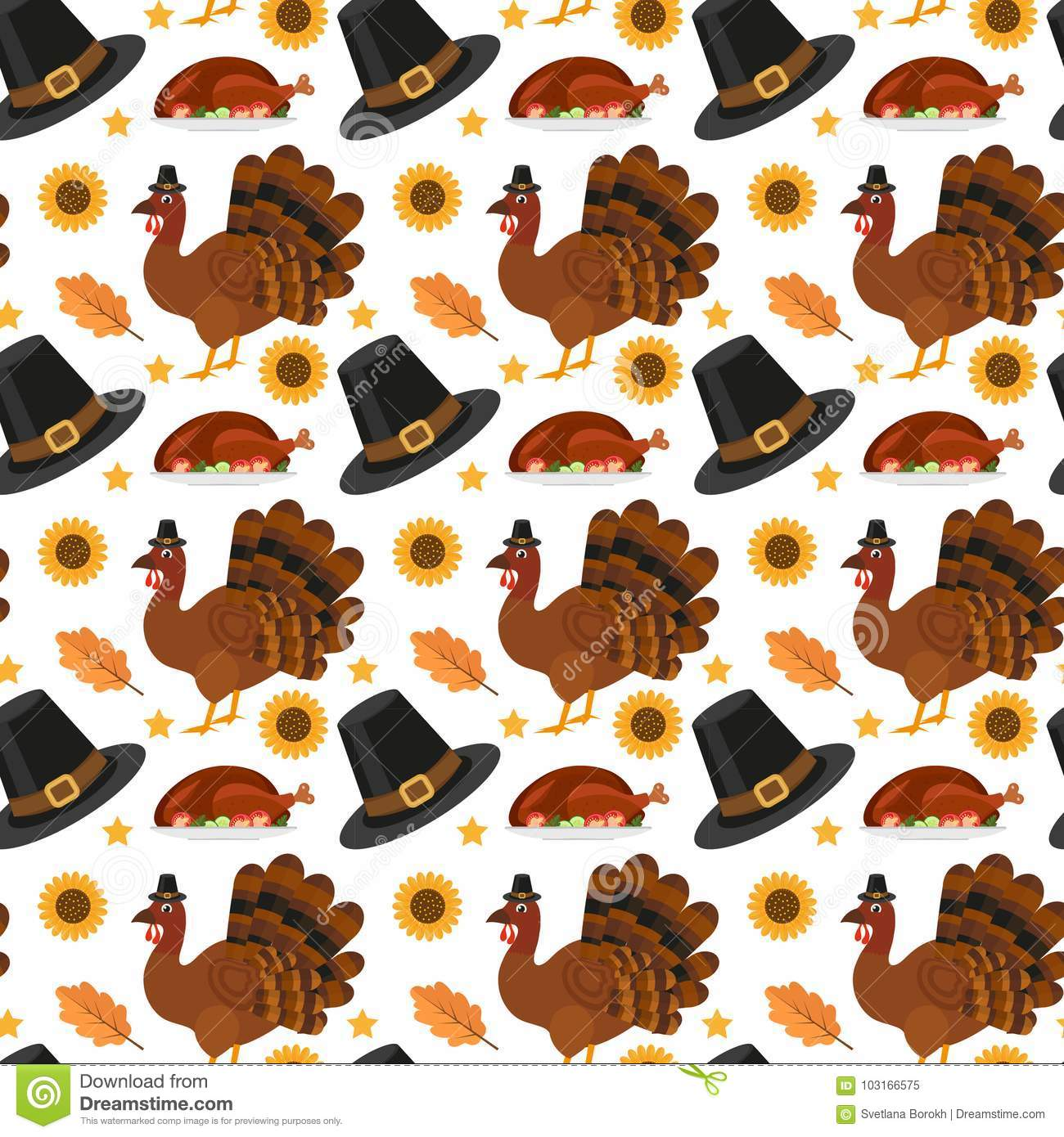 Happy Thanksgiving Day Seamless Pattern. Holiday Of ...