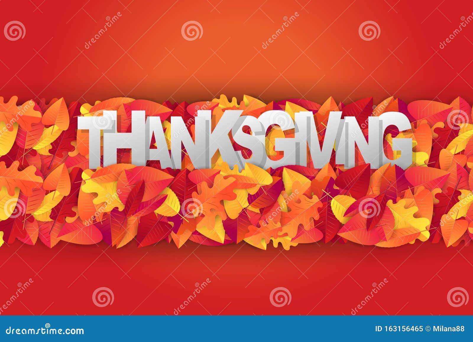 Happy Thanksgiving Dekorationsgrafiken Mit Fallblattern Saisonale Veranstaltungsgestaltung Fur Einladung Oder Werbung Realis Vektor Abbildung Illustration Von Hintergrund Partei 163156465