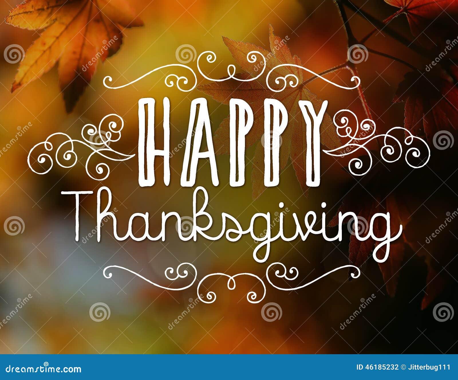 Happy Thanksgiving >> Happy Thanksgiving Stock Illustration Illustration Of Type 46185232