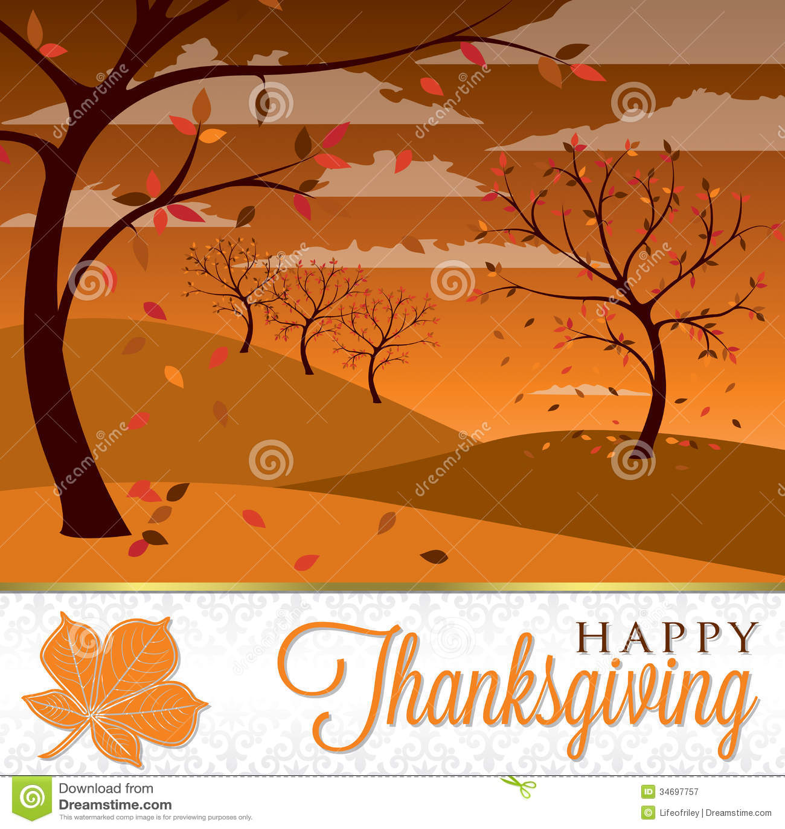 happy thanksgiving stock illustration illustration of elegant