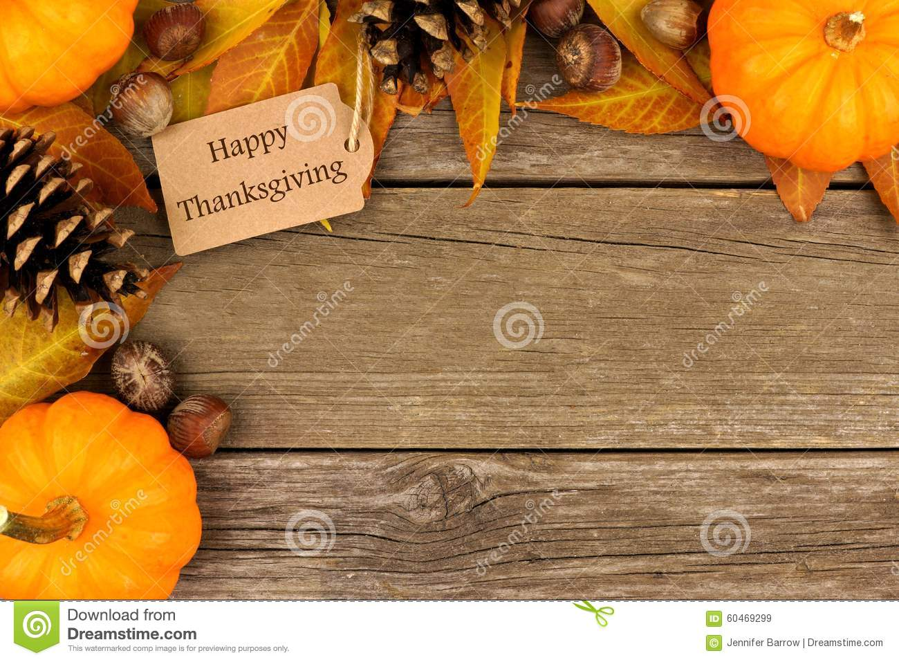 Happy Thanksgiving Background With Colorful Autumn Leaves Cartoon Vector