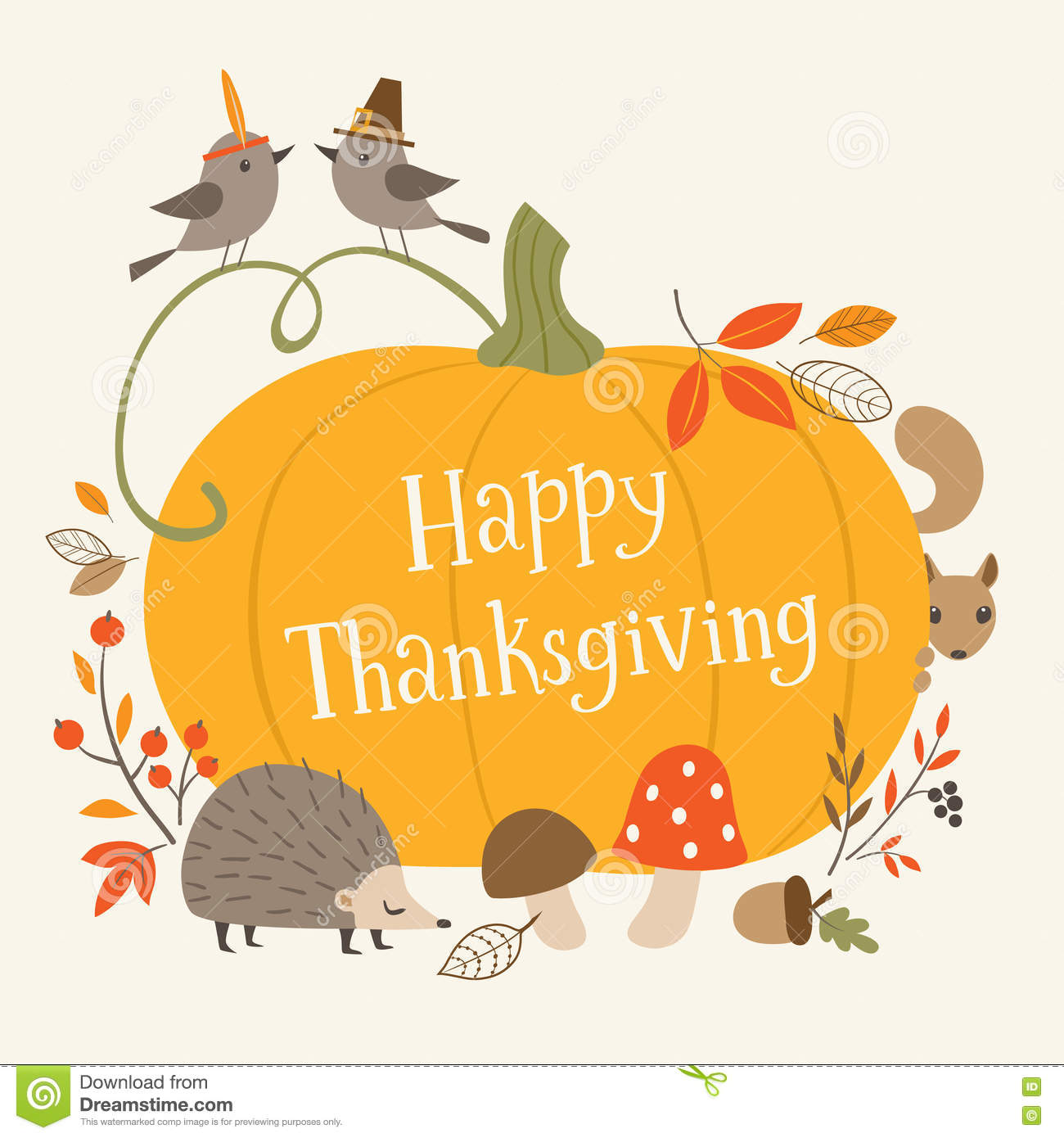 Happy thanksgiving greeting card stock vector illustration of happy thanksgiving greeting card m4hsunfo