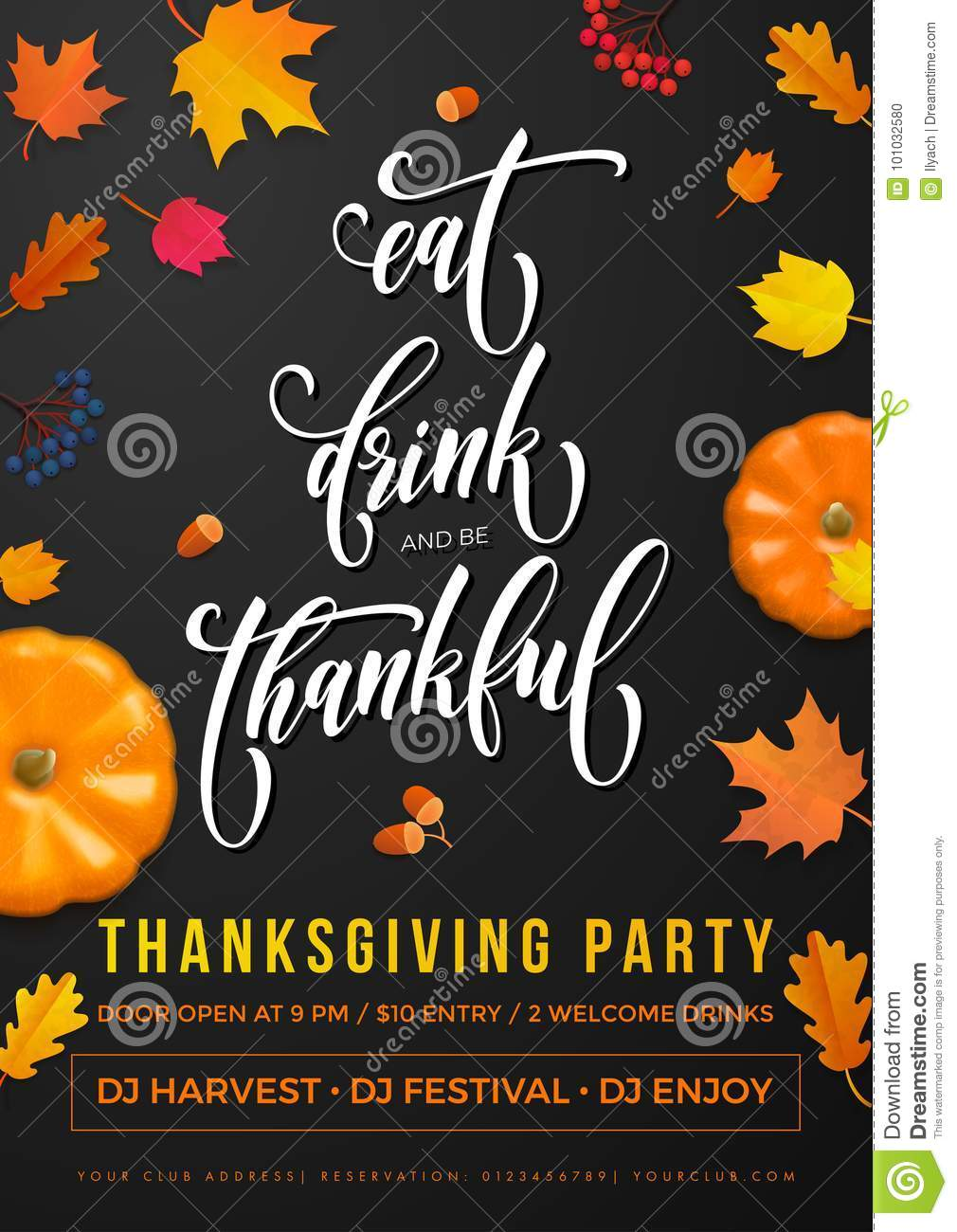 Happy thanksgiving holiday party autumn fall vector pumpkin leaf download happy thanksgiving holiday party autumn fall vector pumpkin leaf greeting card stock vector illustration m4hsunfo