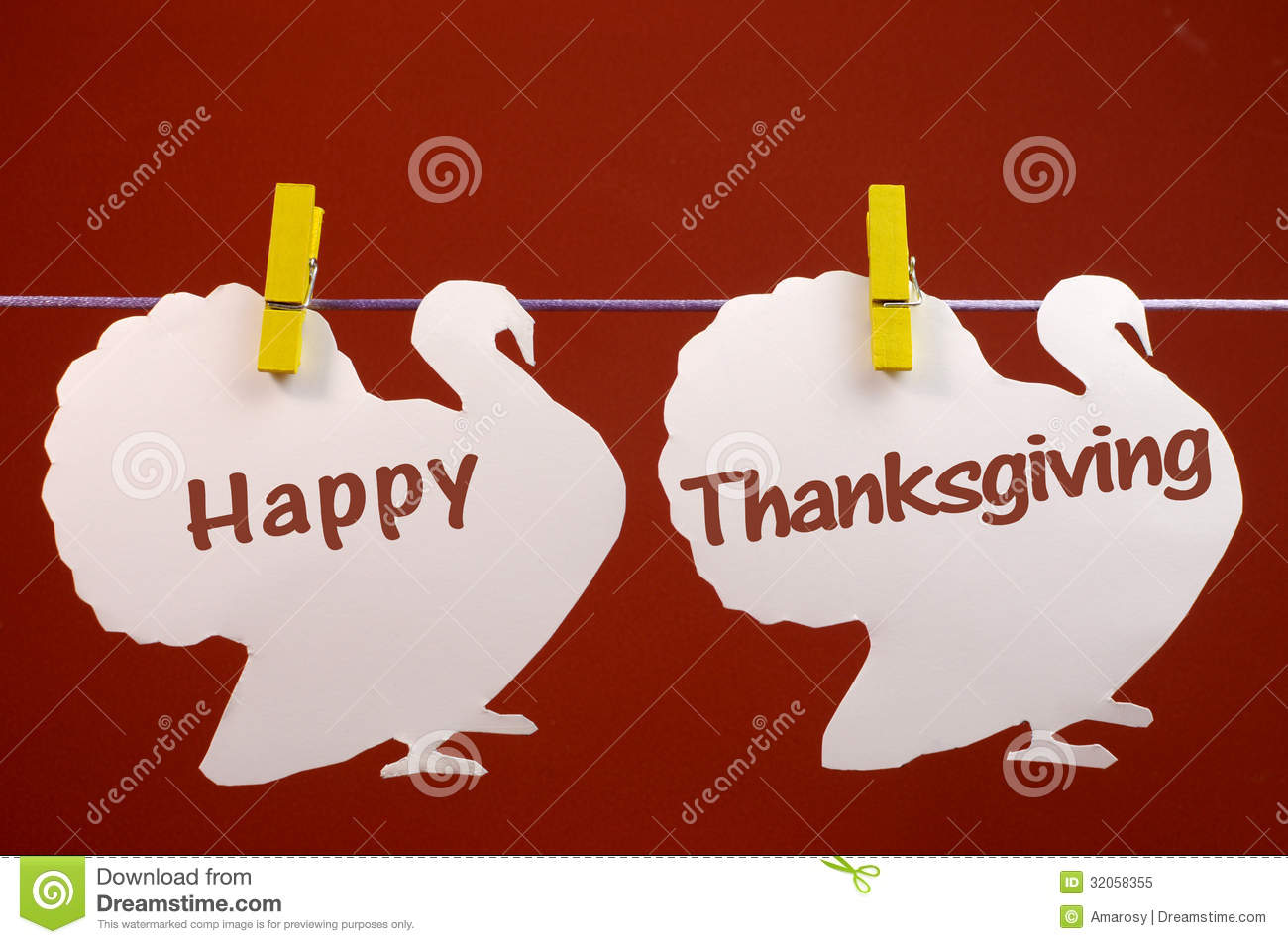 happy thanksgiving message greeting written across white turkeys