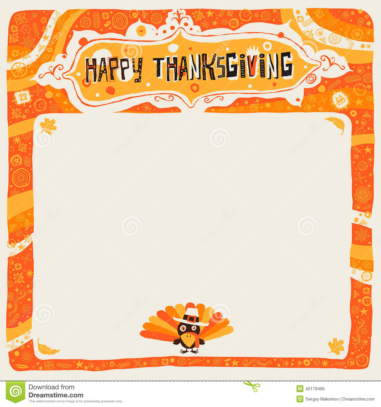 Happy Thanksgiving Postcard, Poster, Background, Ornament Or ...