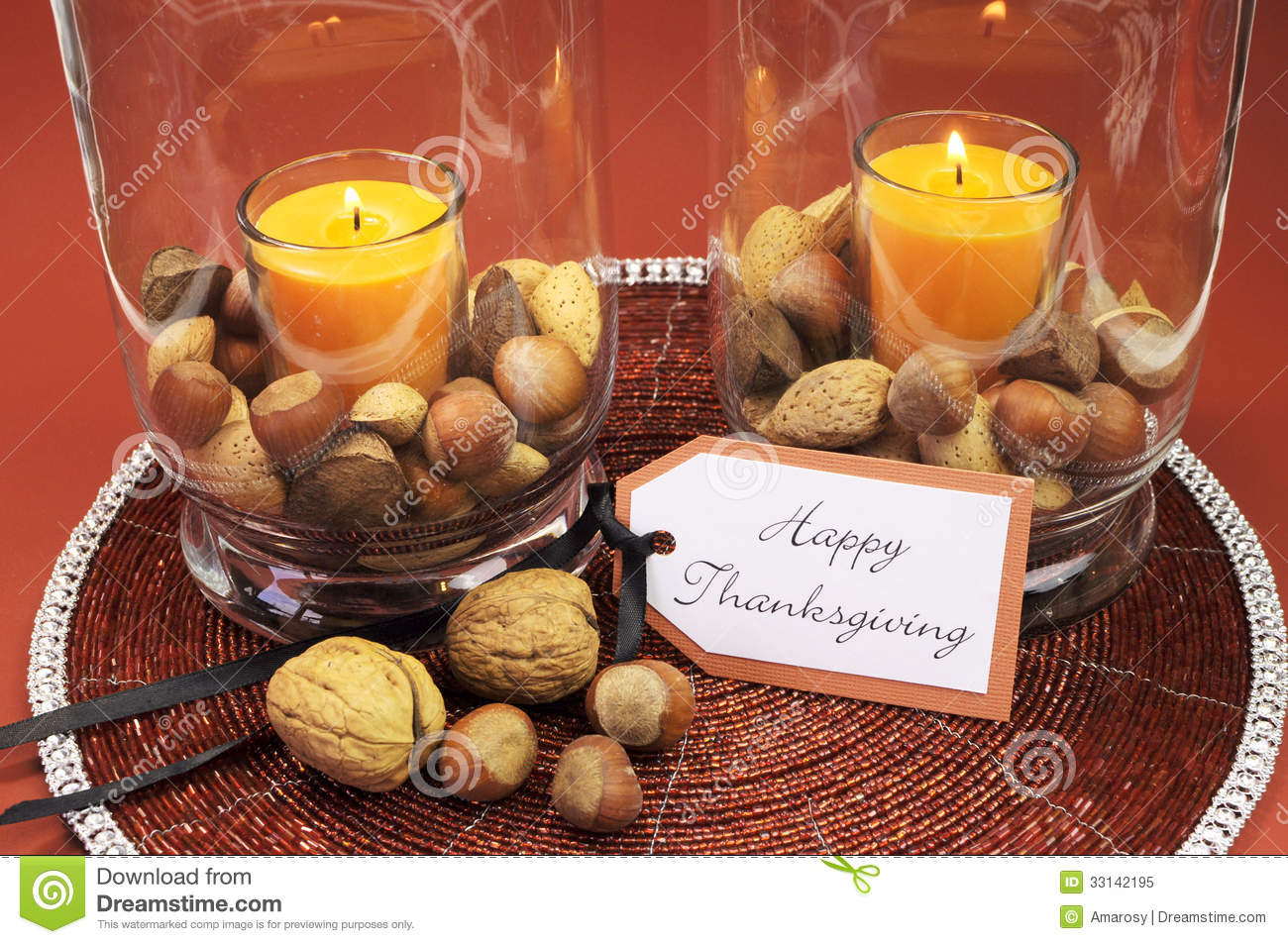 Beautiful Thanksgiving Tables happy thanksgiving table setting centerpiece. vertical. stock