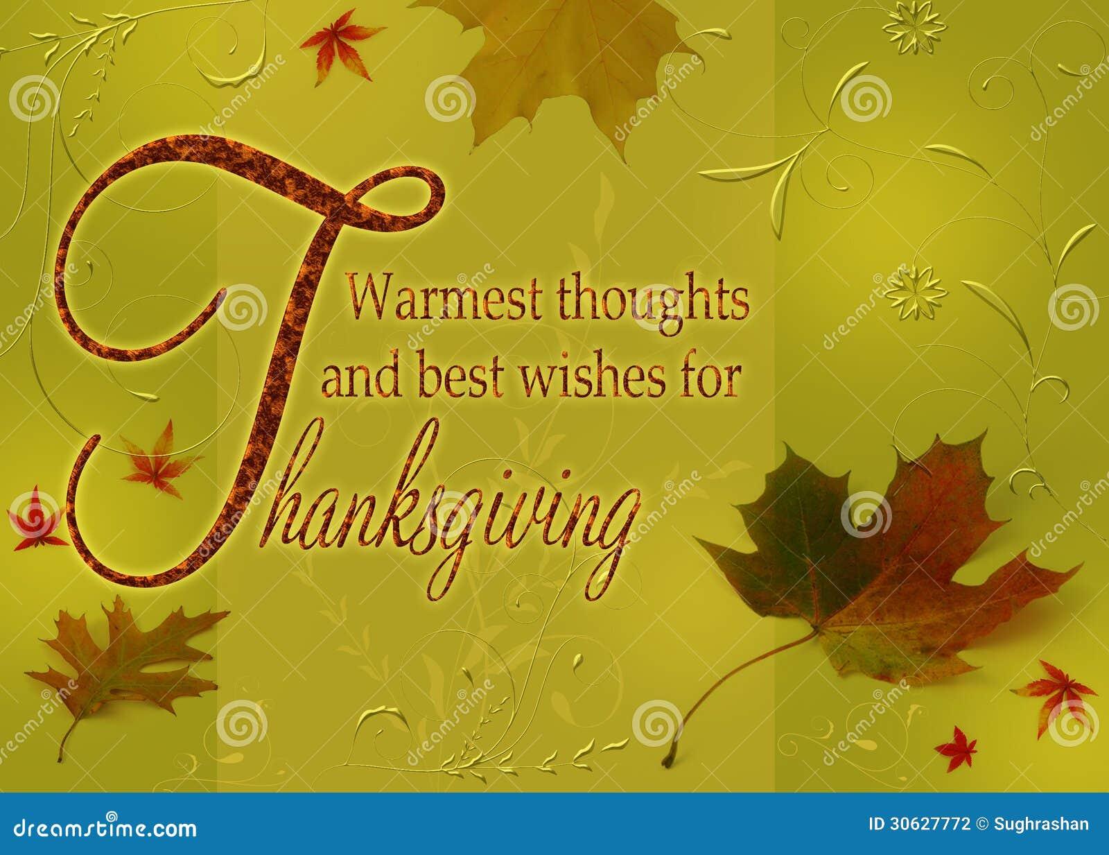 Happy Thanksgiving Wishes Stock Illustration Illustration Of
