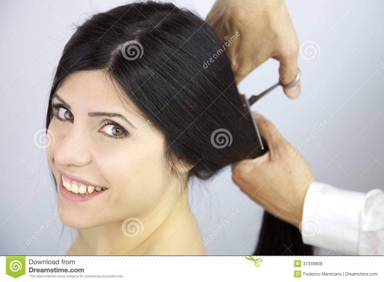 Marvelous Happy To Change Hairstyle Cutting My Long Hair Royalty Free Stock Short Hairstyles Gunalazisus