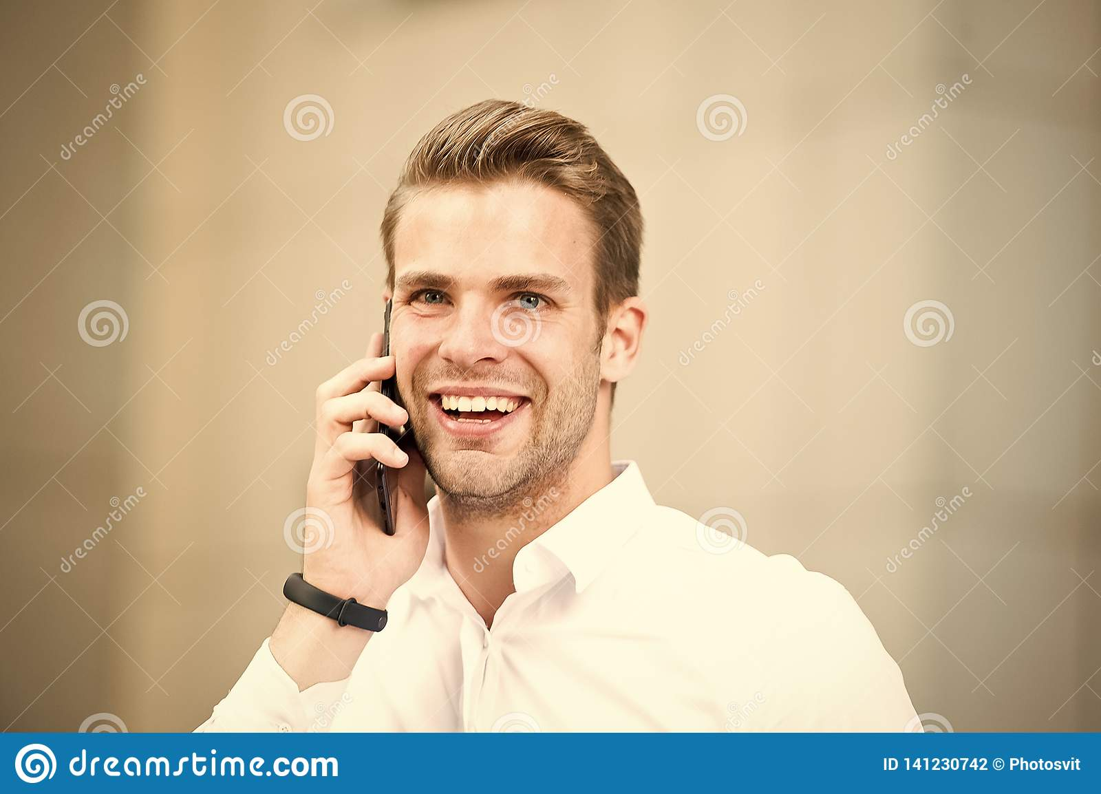 Happy to hear you. Spend few minutes before call to gather yourself. Successful phone conversations tips. Success in