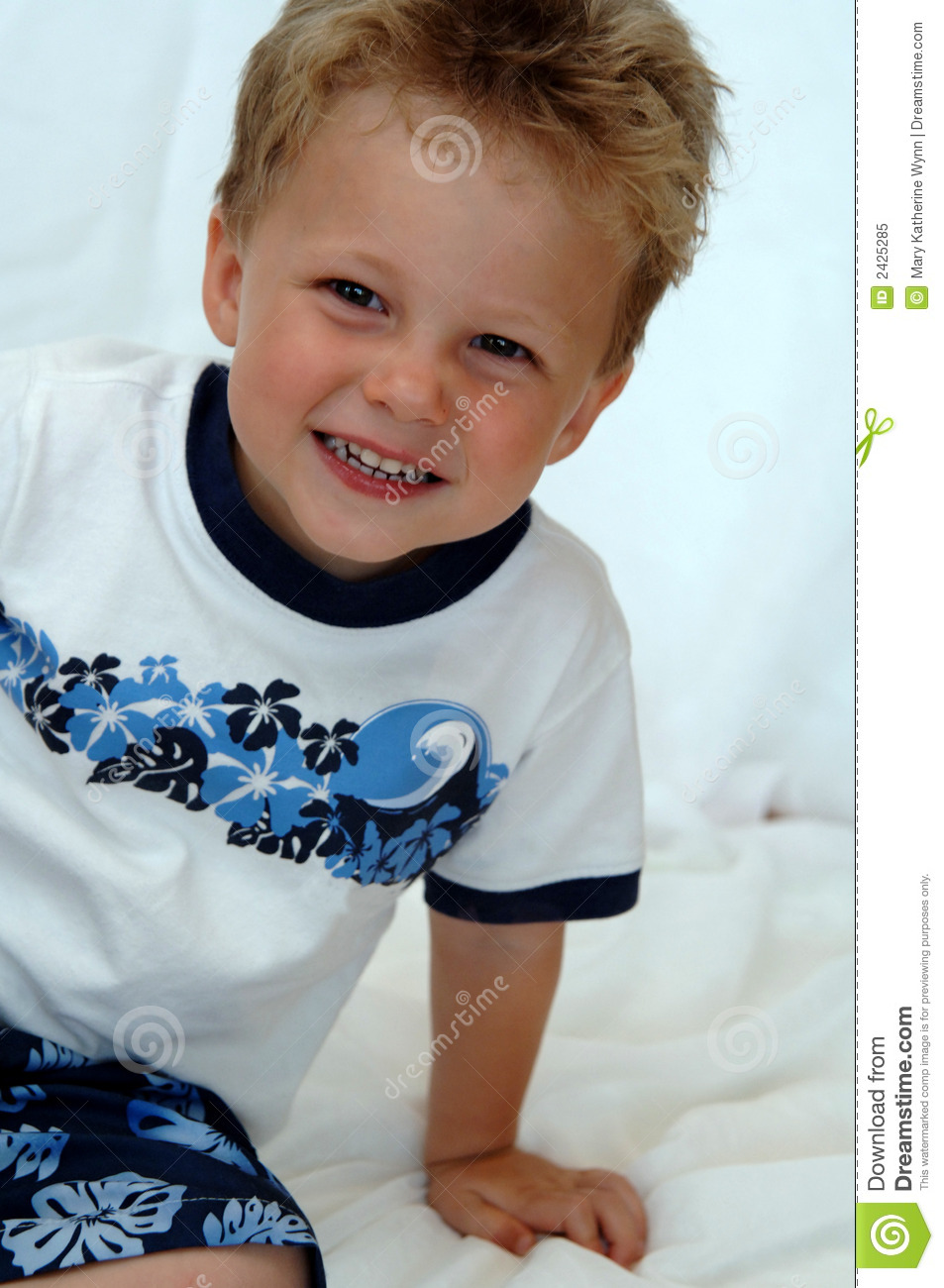 Happy Toddler Boy Stock Image Image Of Teeth Smiling