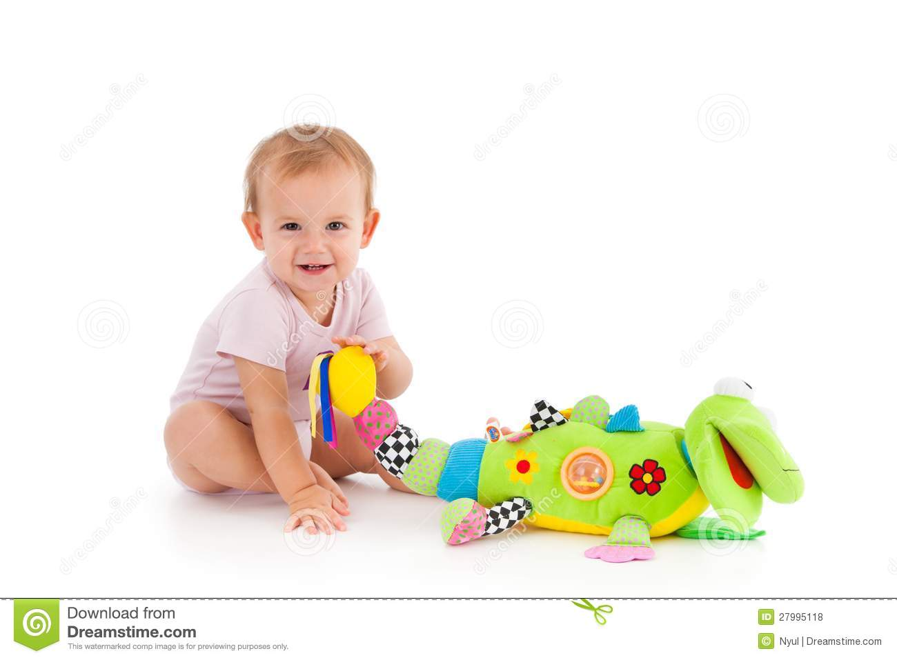 Toddler Toys Photography : Happy toddler playing with toy stock photo image of