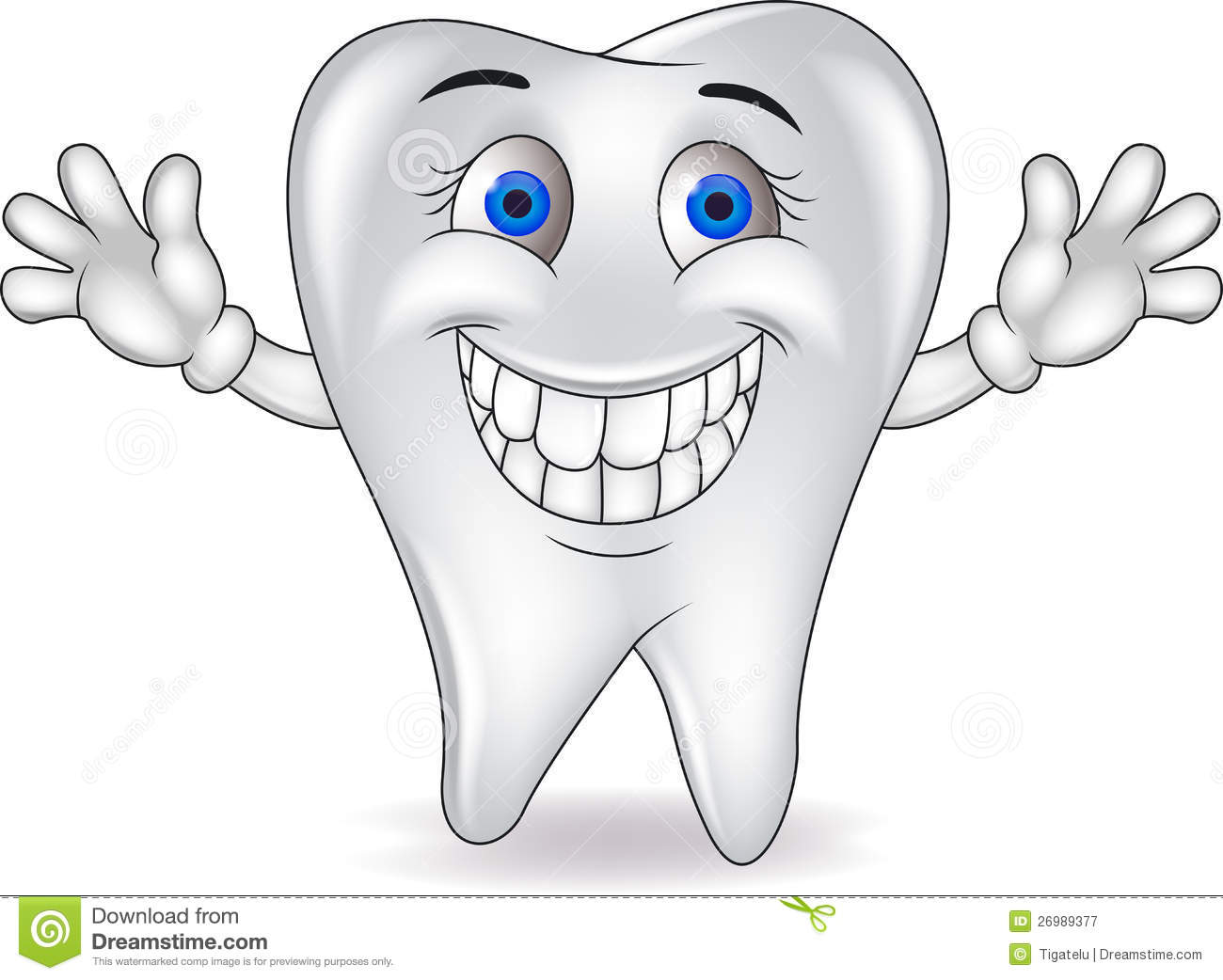 Happy Tooth Royalty Free Stock Photography - Image: 26989377