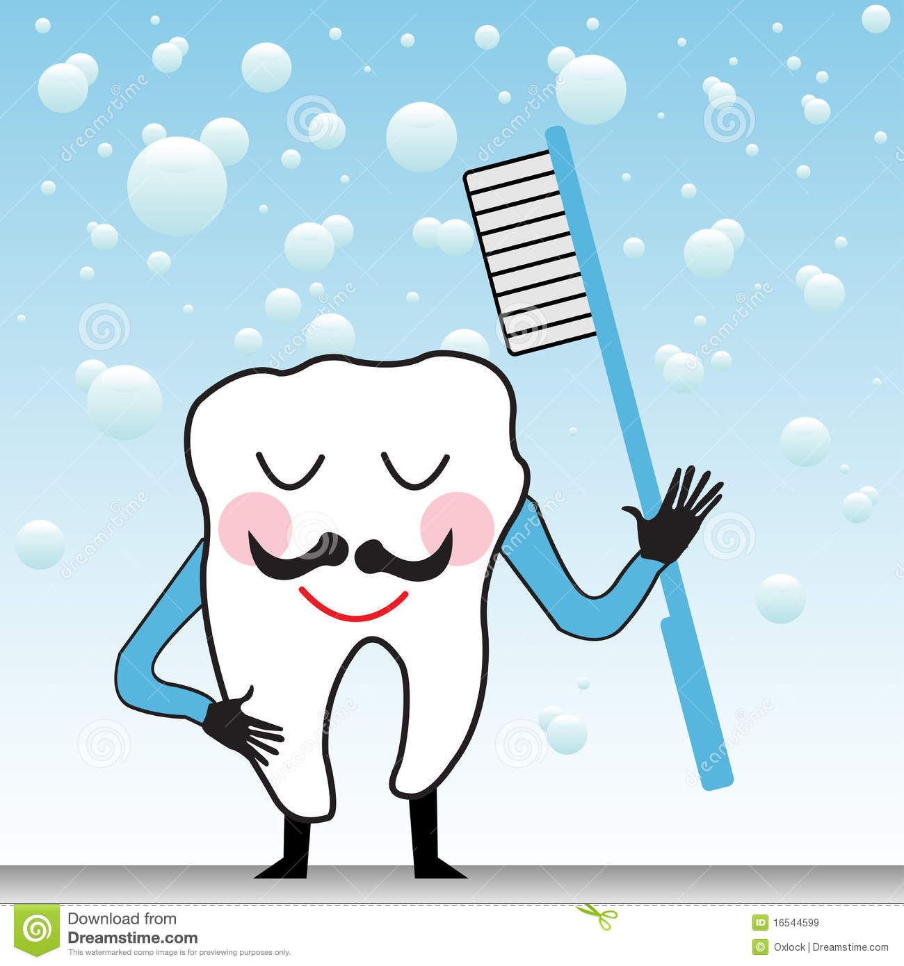 Happy Tooth Happy tooth with toothbrush