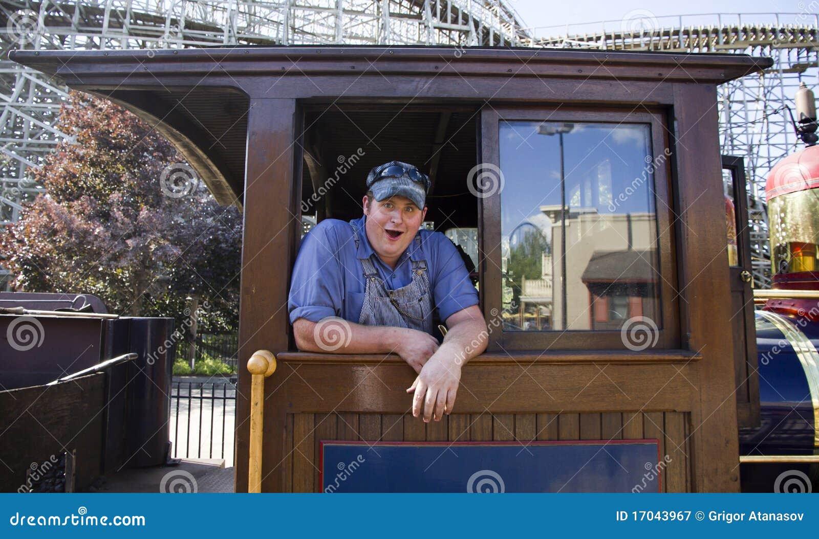Happy train engineer