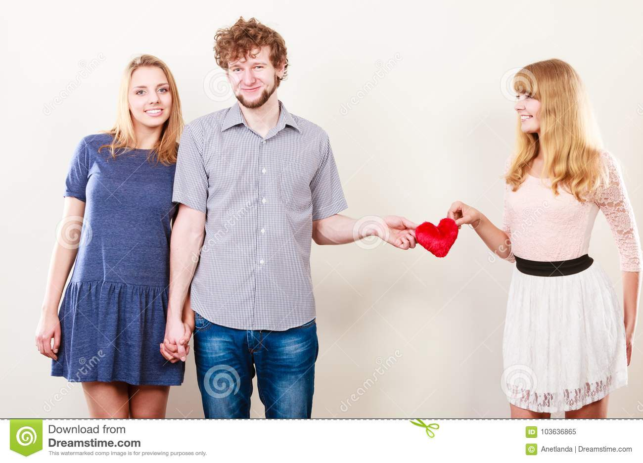 three people dating