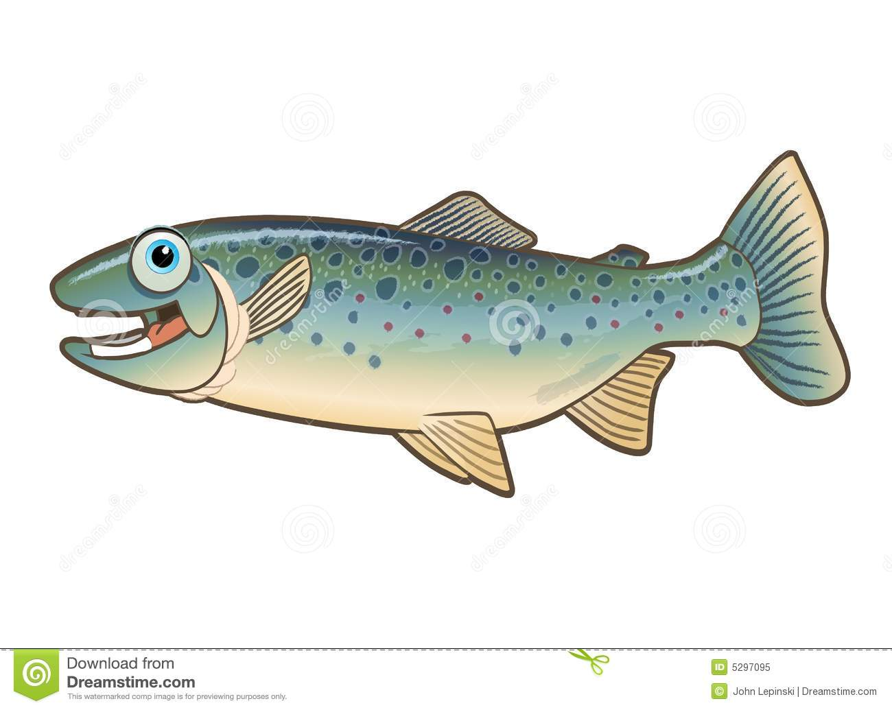 happy trout cartoon illustration stock illustration salmon clipart clear salmon clip art images