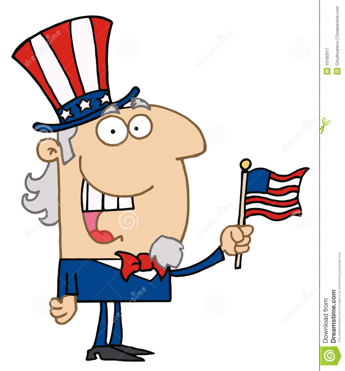 happy uncle sam stock vector illustration of july clipart 16160917 rh dreamstime com uncle sam pictures clip art uncle sam clip art free