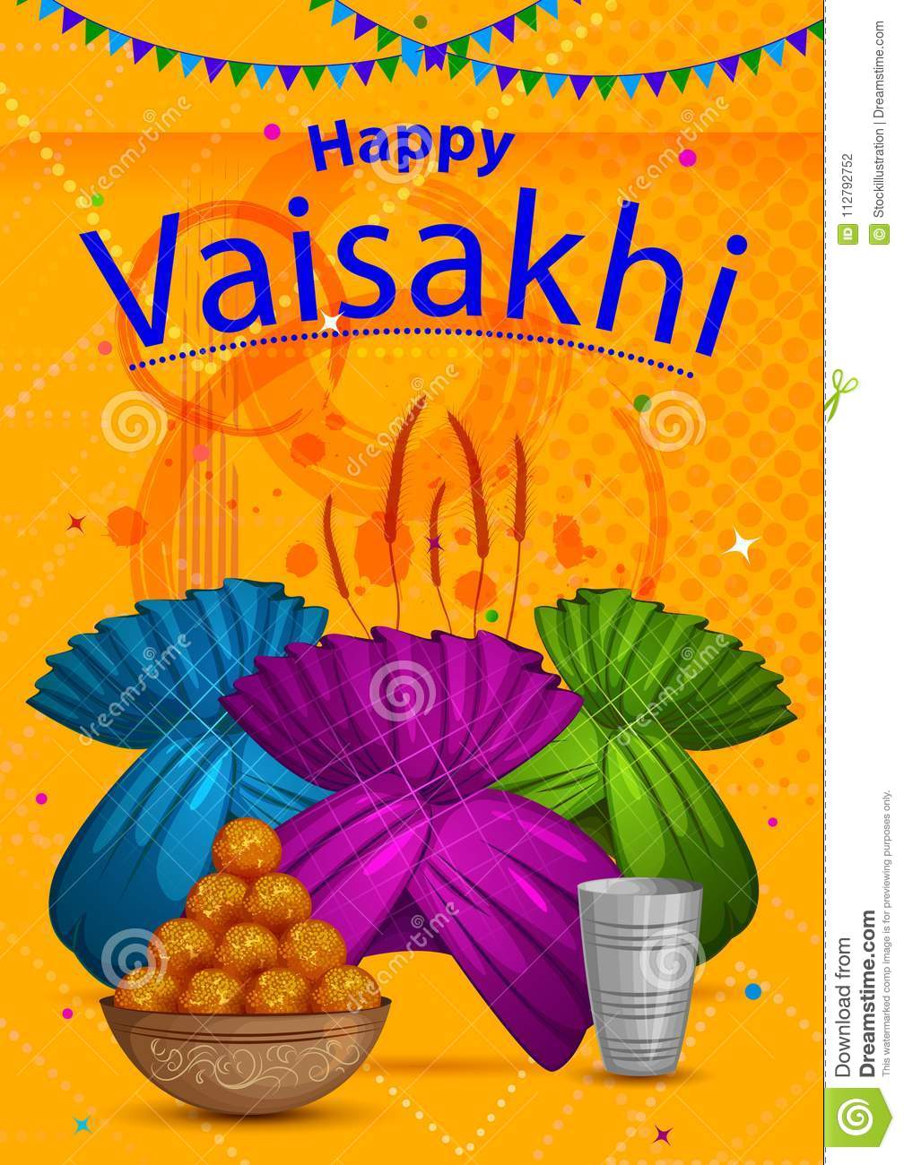 happy vaisakhi punjabi religious holiday background for new year festival of punjab india