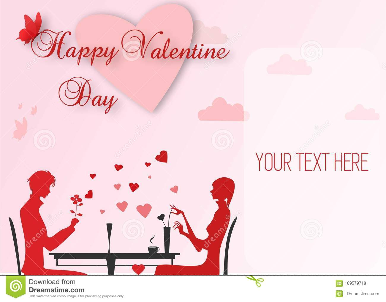 Happy Valentine Card Stock Vector Illustration Of Party 109579718