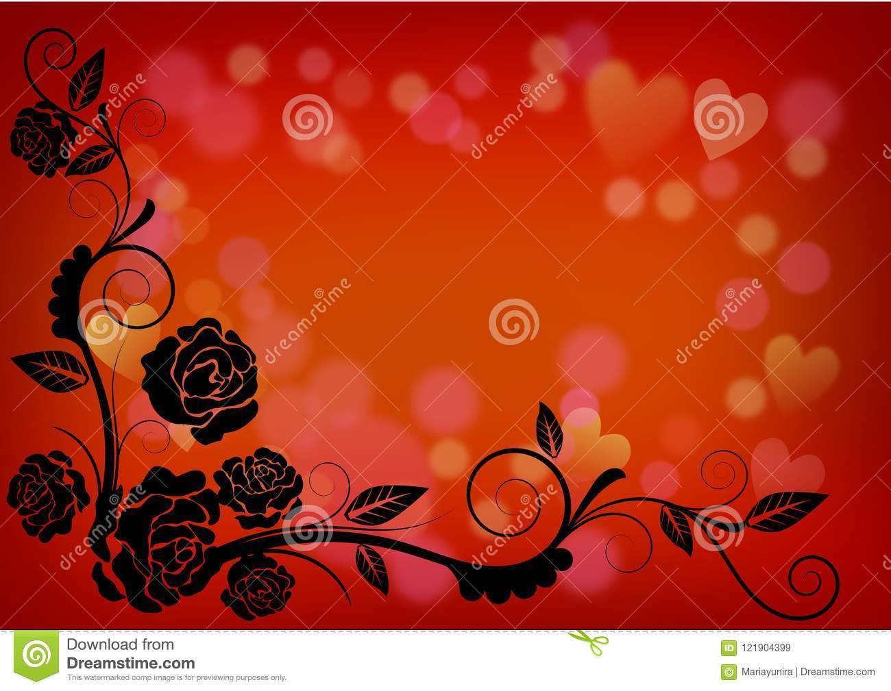 Happy Valentine Card With Love Heart Background Stock Illustration