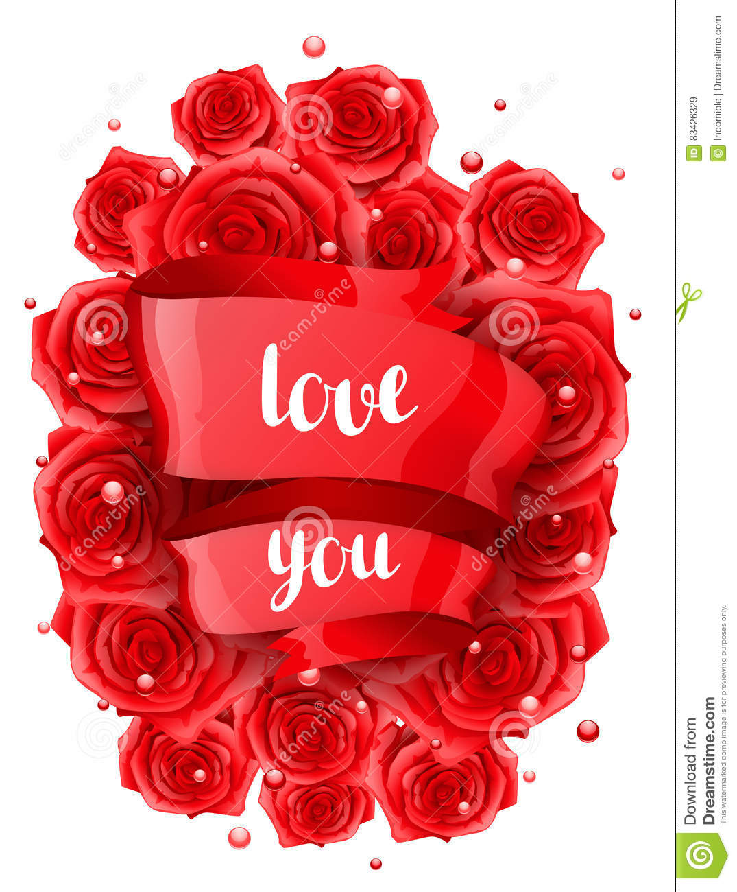 happy valentine day greeting card with red realistic roses stock, Ideas
