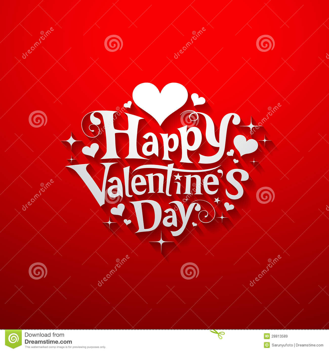 Happy Valentine Day Message Banner Stock Vector Illustration Of