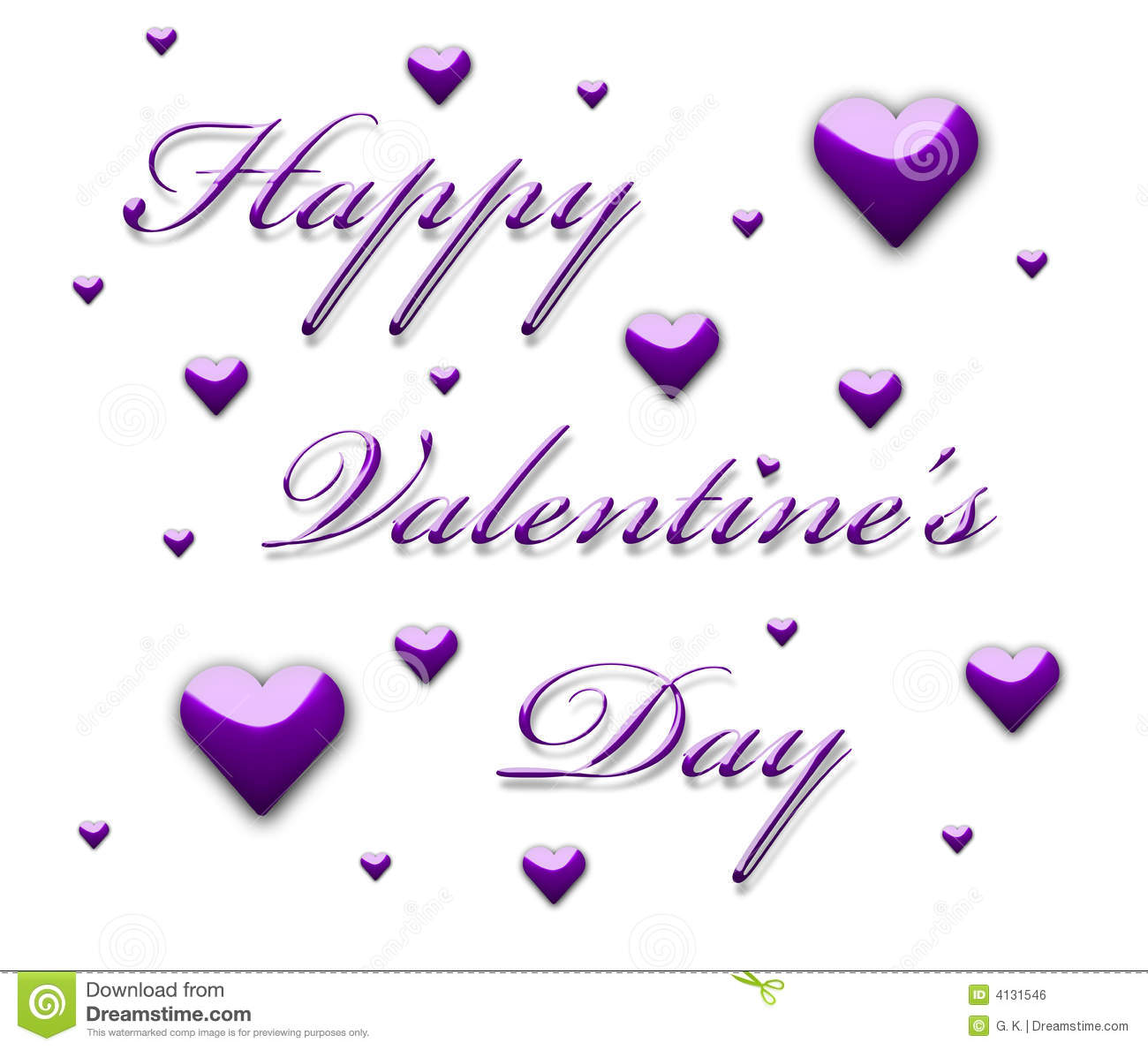 happy valentine u0026 39 s day 3d text stock illustration