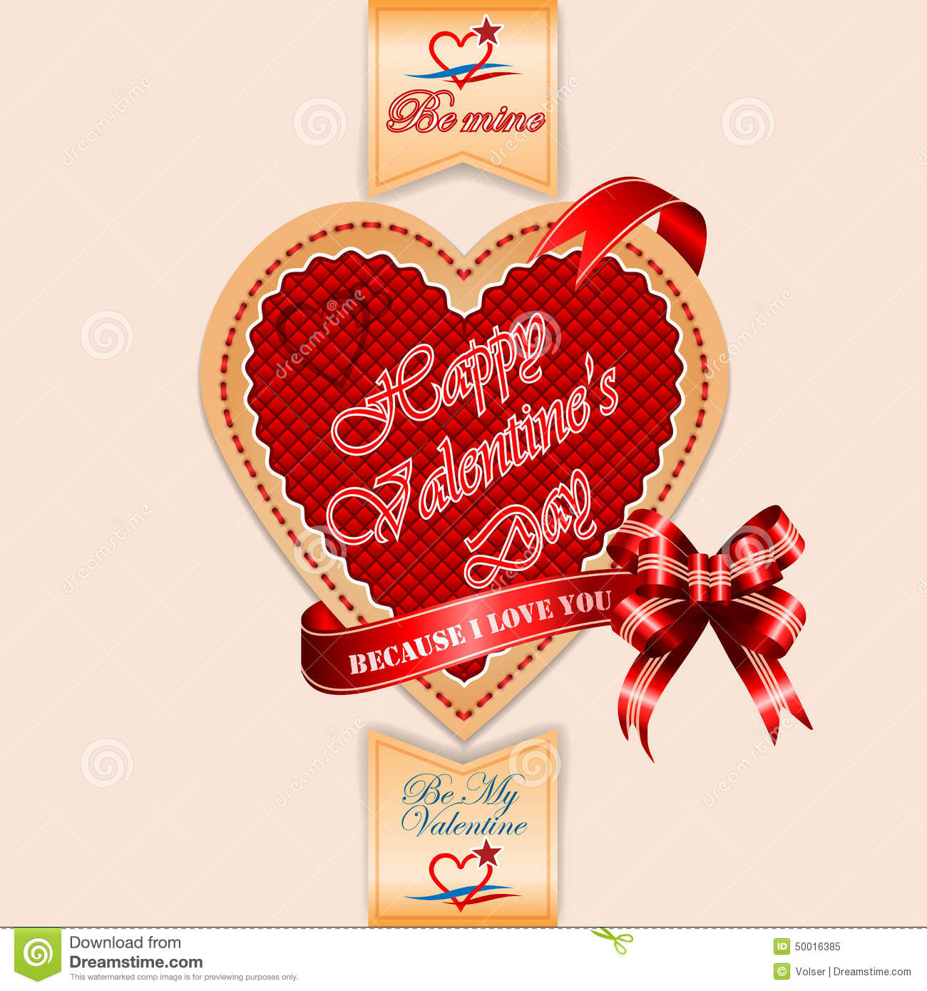 Happy Valentine's Day Background With Because I Love You