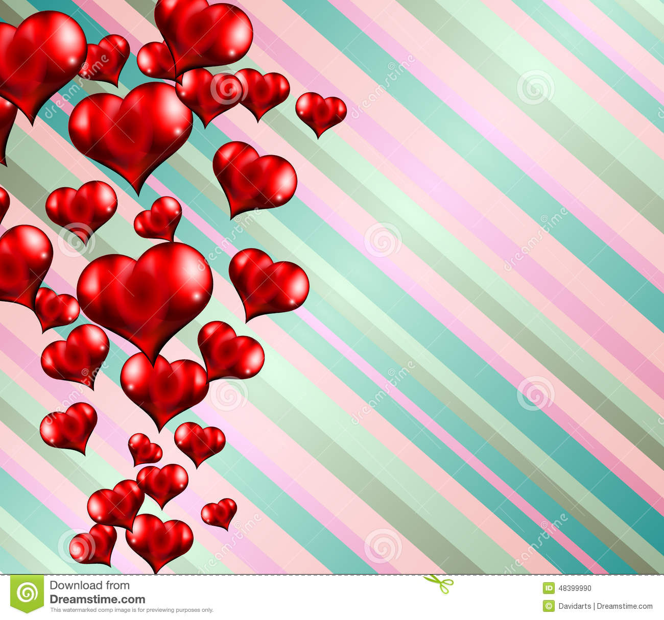 Happy Valentine\'s Day Background With Lovely Hearts Stock Vector ...