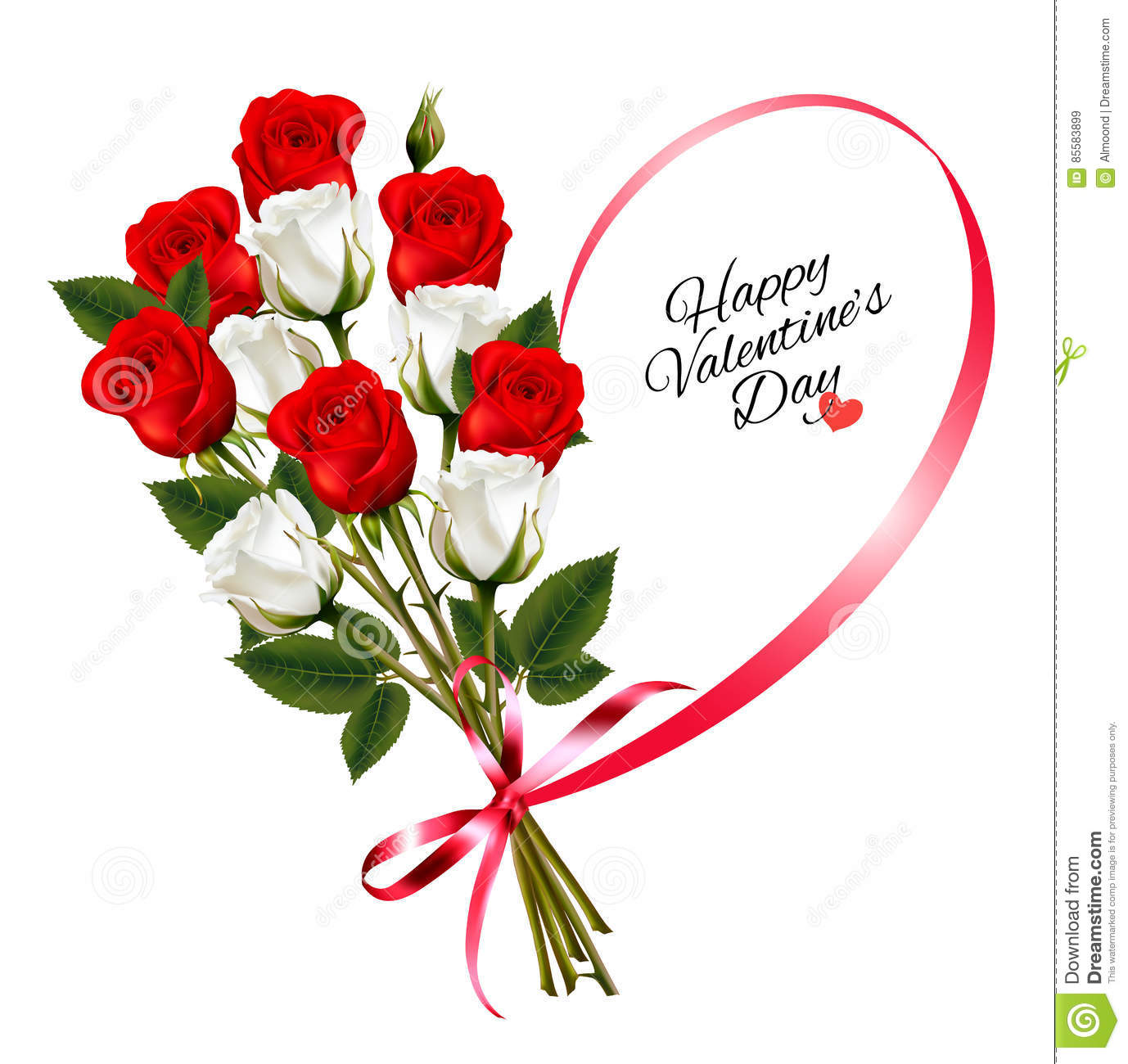 Happy valentines day beautiful background with roses stock vector happy valentines day beautiful background with roses izmirmasajfo