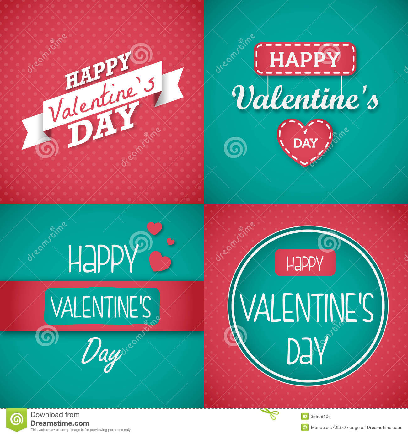 Happy Valentines Day Card Set Royalty Free Image Image – Happy Valentines Day Greeting Card