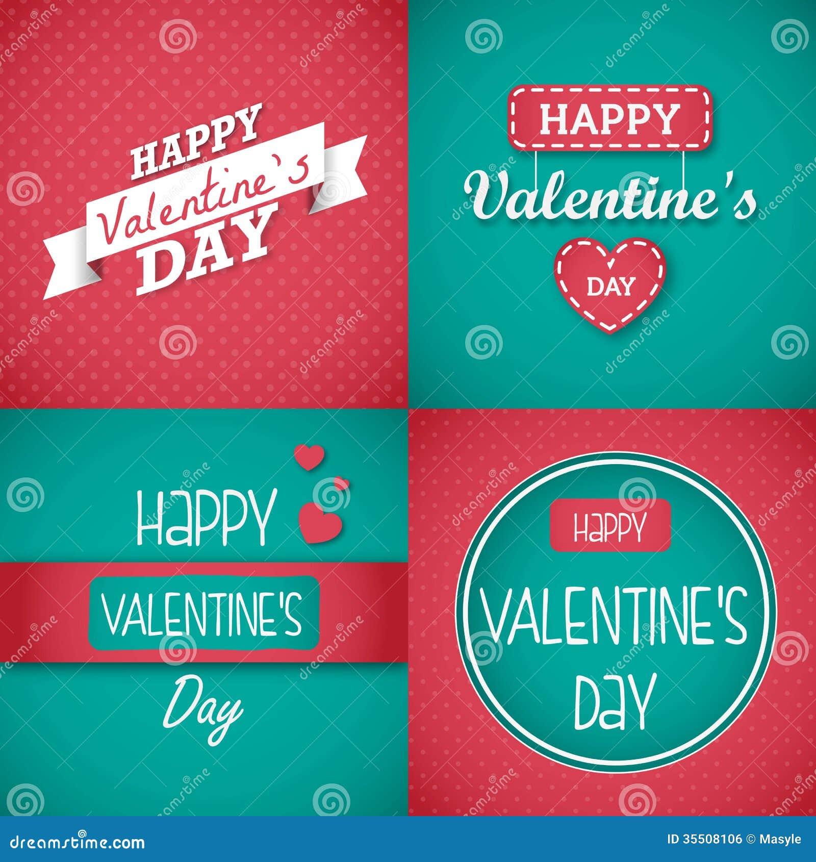 Set of Valentin... Free Clipart Of Valentine's Day