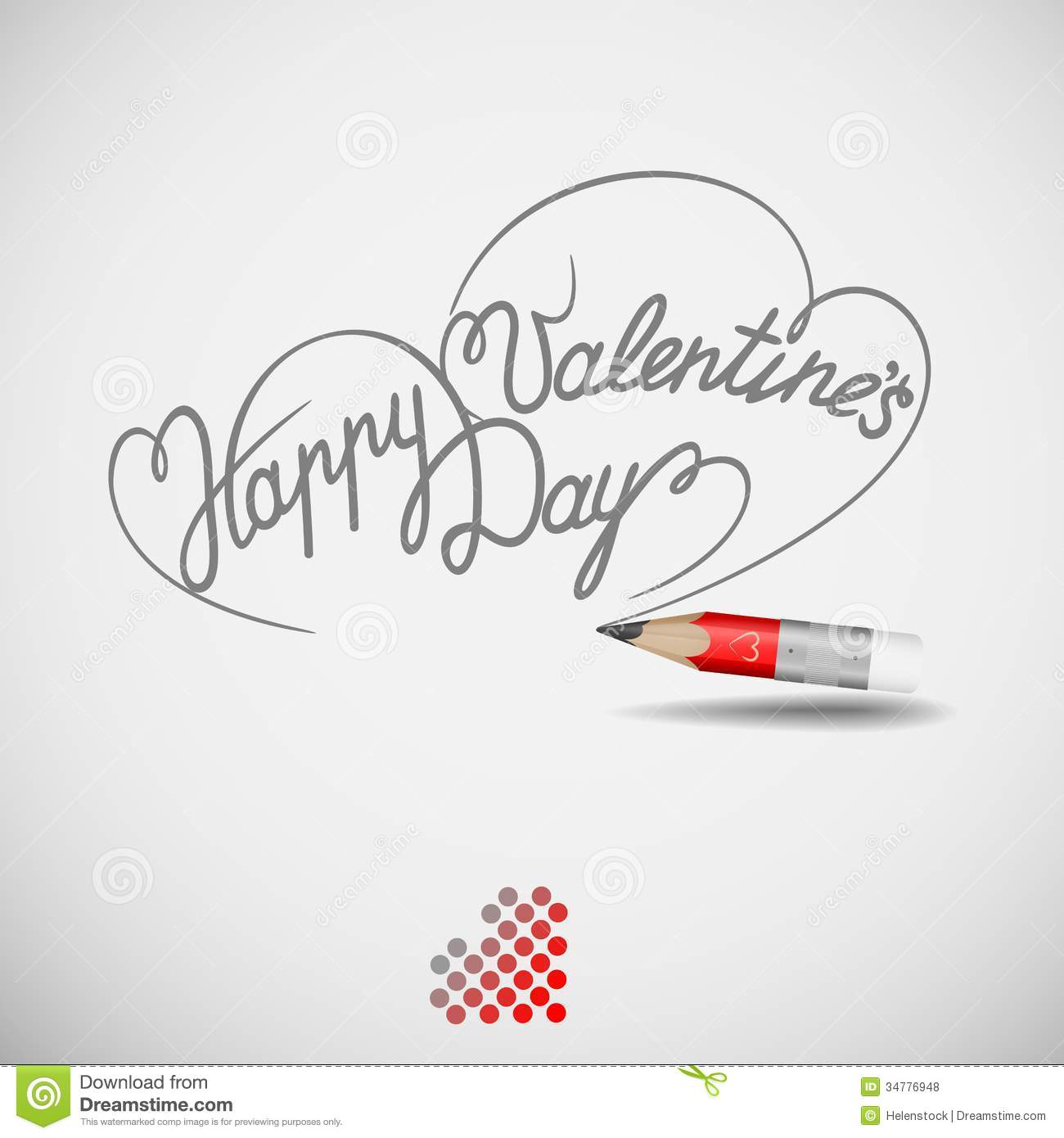 Happy Valentine S Day Card Stock Illustration Illustration Of