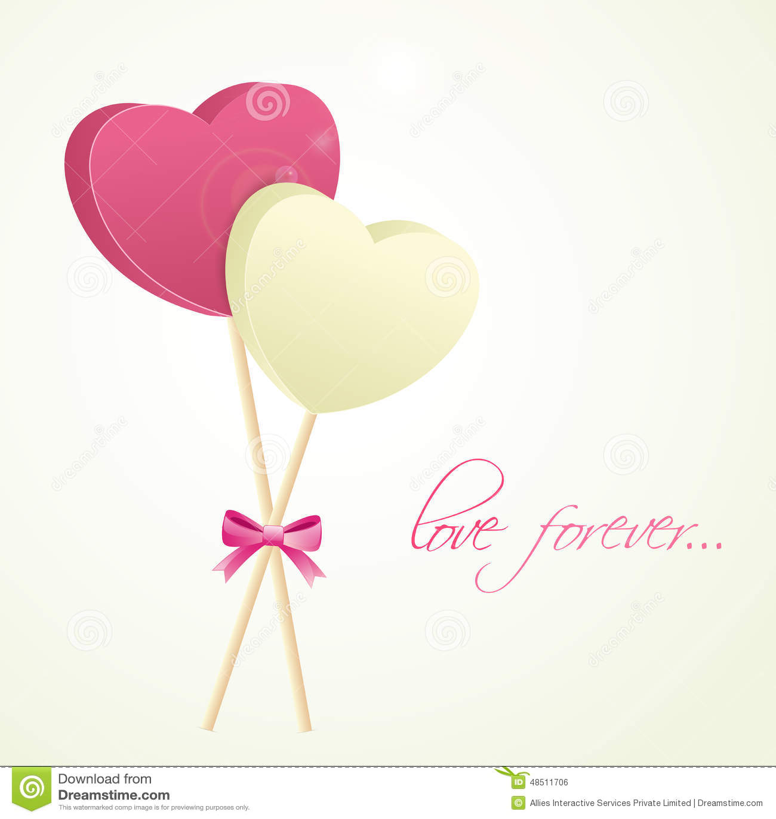 Happy Valentines Day Celebration Love Greeting Card. Stock