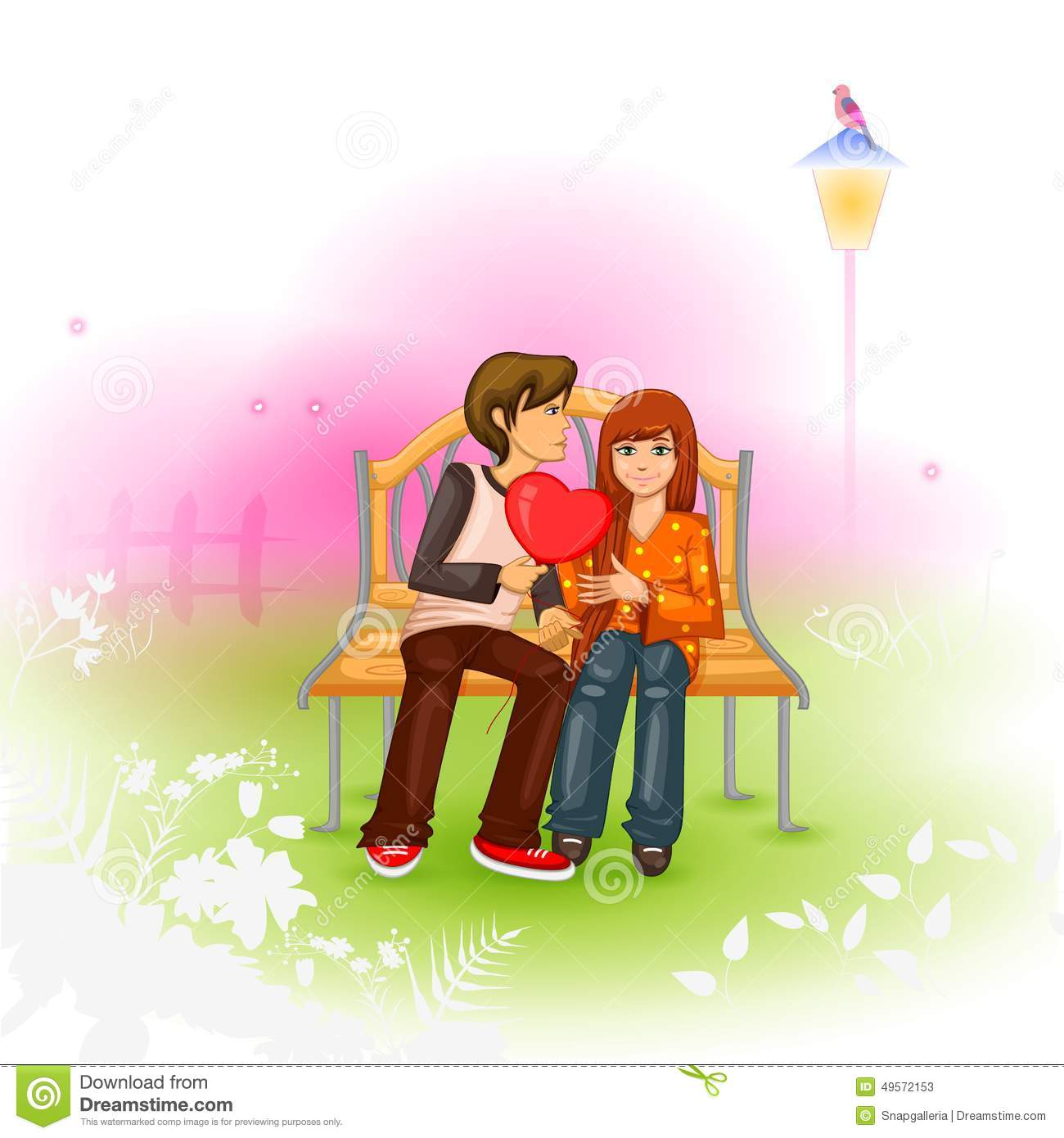 Happy Valentine S Day Stock Vector Illustration Of Pair 49572153