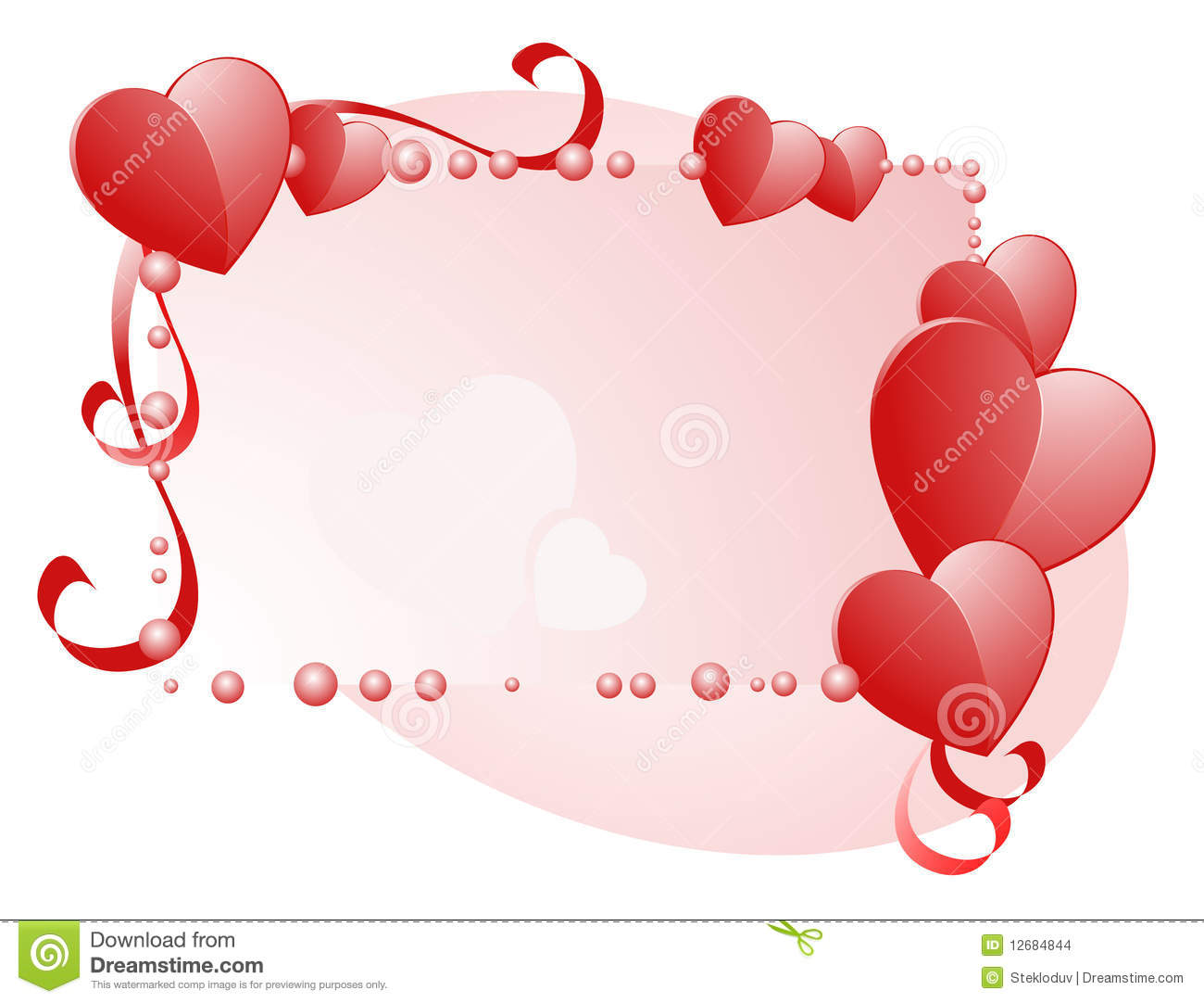 Happy Valentines Day Frame Stock Vector Illustration Of Love