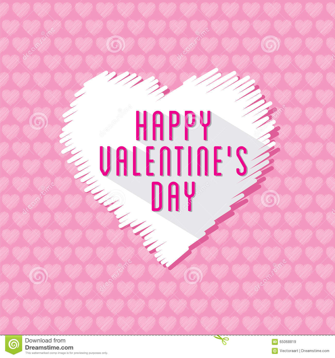 Happy Valentines Day Greeting Card Design Stock Vector