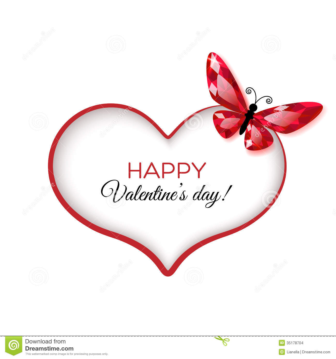 Happy Valentines Day Greeting Card Vector Image 35178704 – Happy Valentines Day Cards