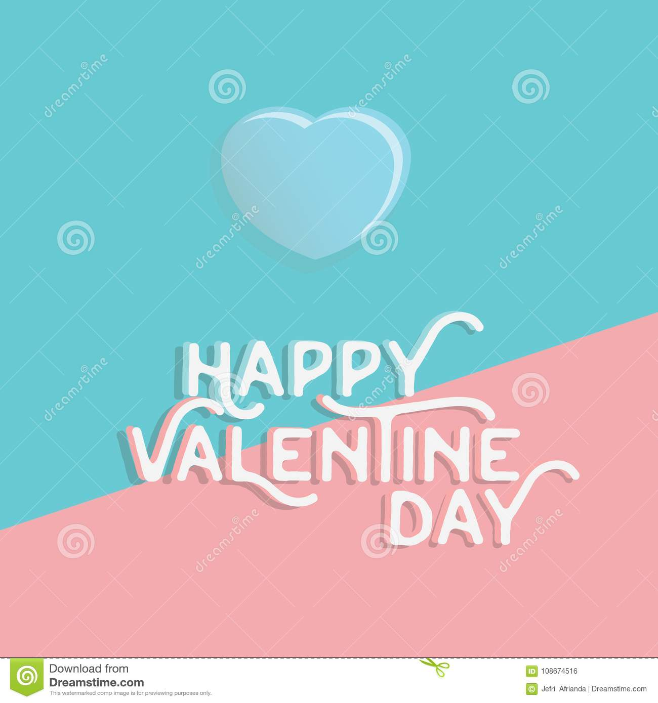 Download Happy Valentine`s Day Heart , Greeting Happy Valentine Day Holid Stock Illustration - Illustration of holiday, lettering: 108674516