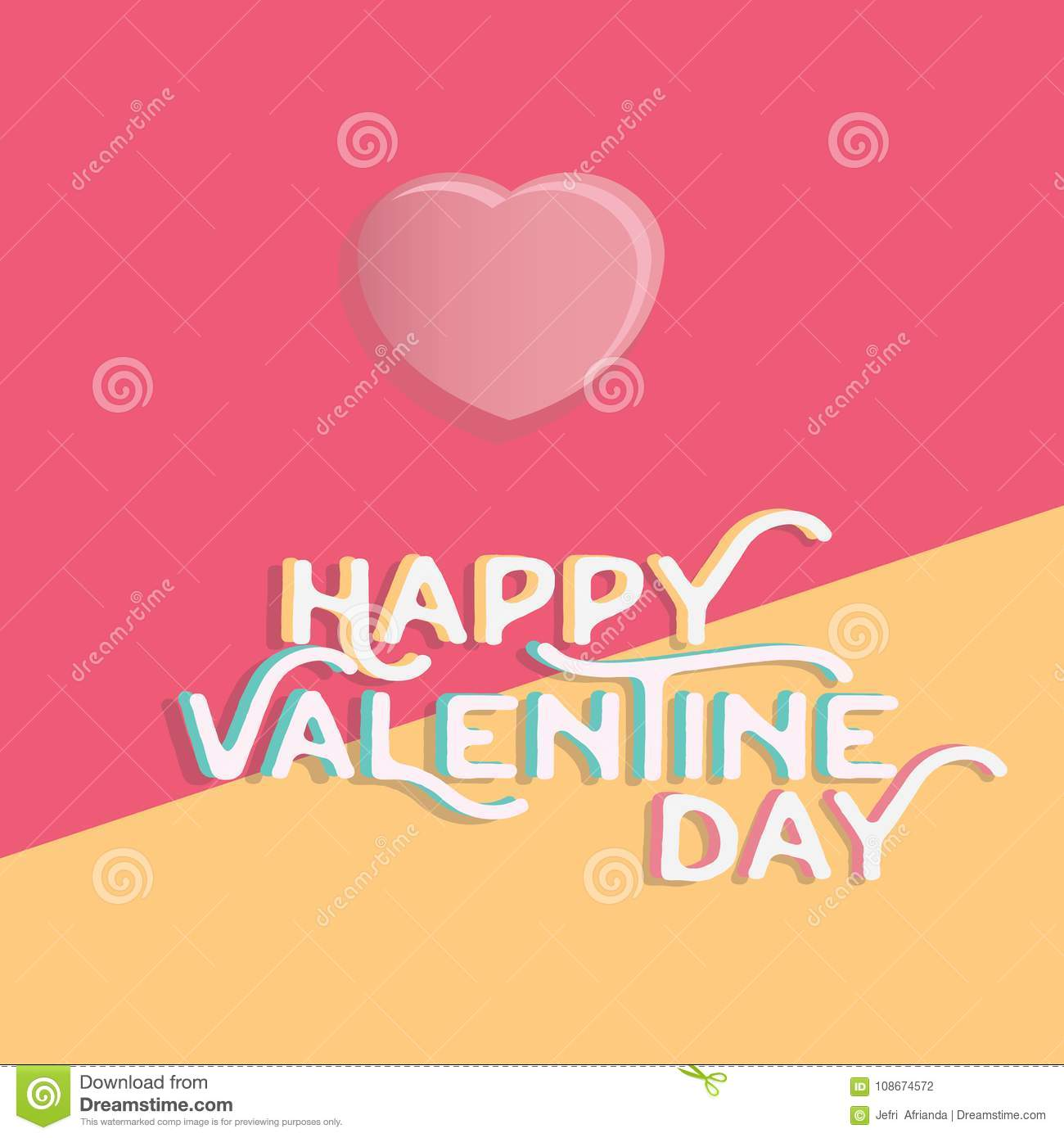 Download Happy Valentine`s Day Heart , Greeting Happy Valentine Day Holid Stock Vector - Illustration of graphic, hearts: 108674572