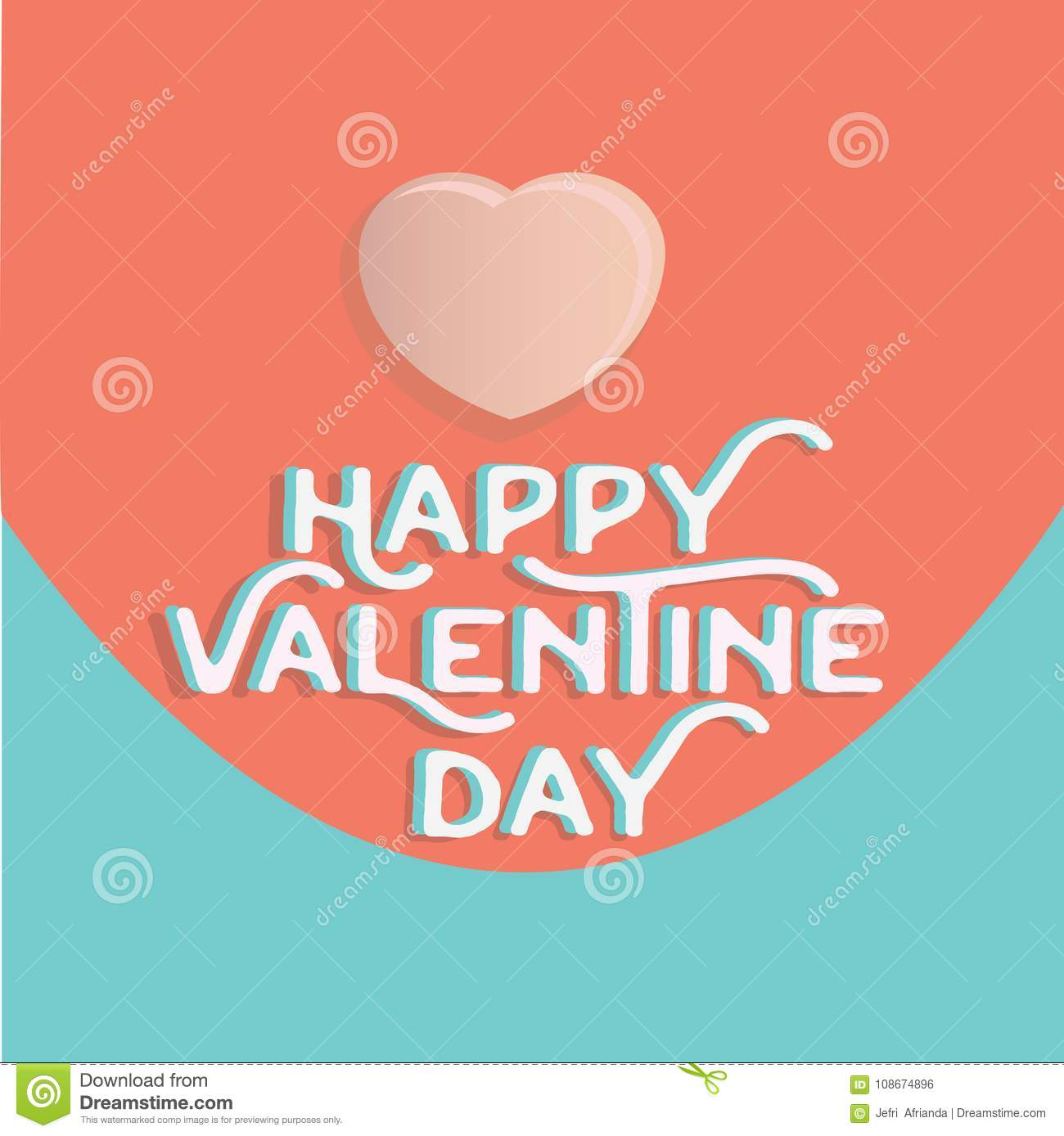 Download Happy Valentine`s Day Heart , Greeting Happy Valentine Day Holid Stock Illustration - Illustration of pastels, concept: 108674896