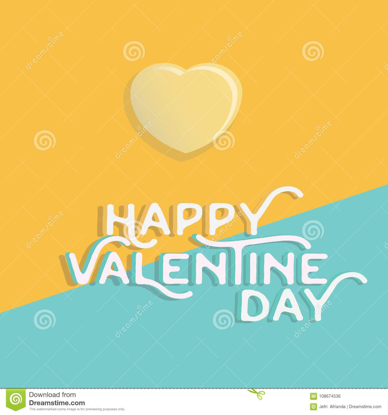 Download Happy Valentine`s Day Heart , Greeting Happy Valentine Day Holid Stock Illustration - Illustration of banner, paper: 108674536