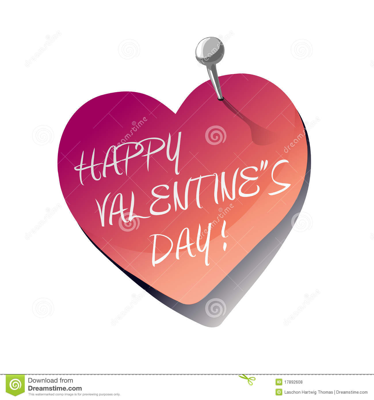 Happy Valentine S Day Heart Sticky Note
