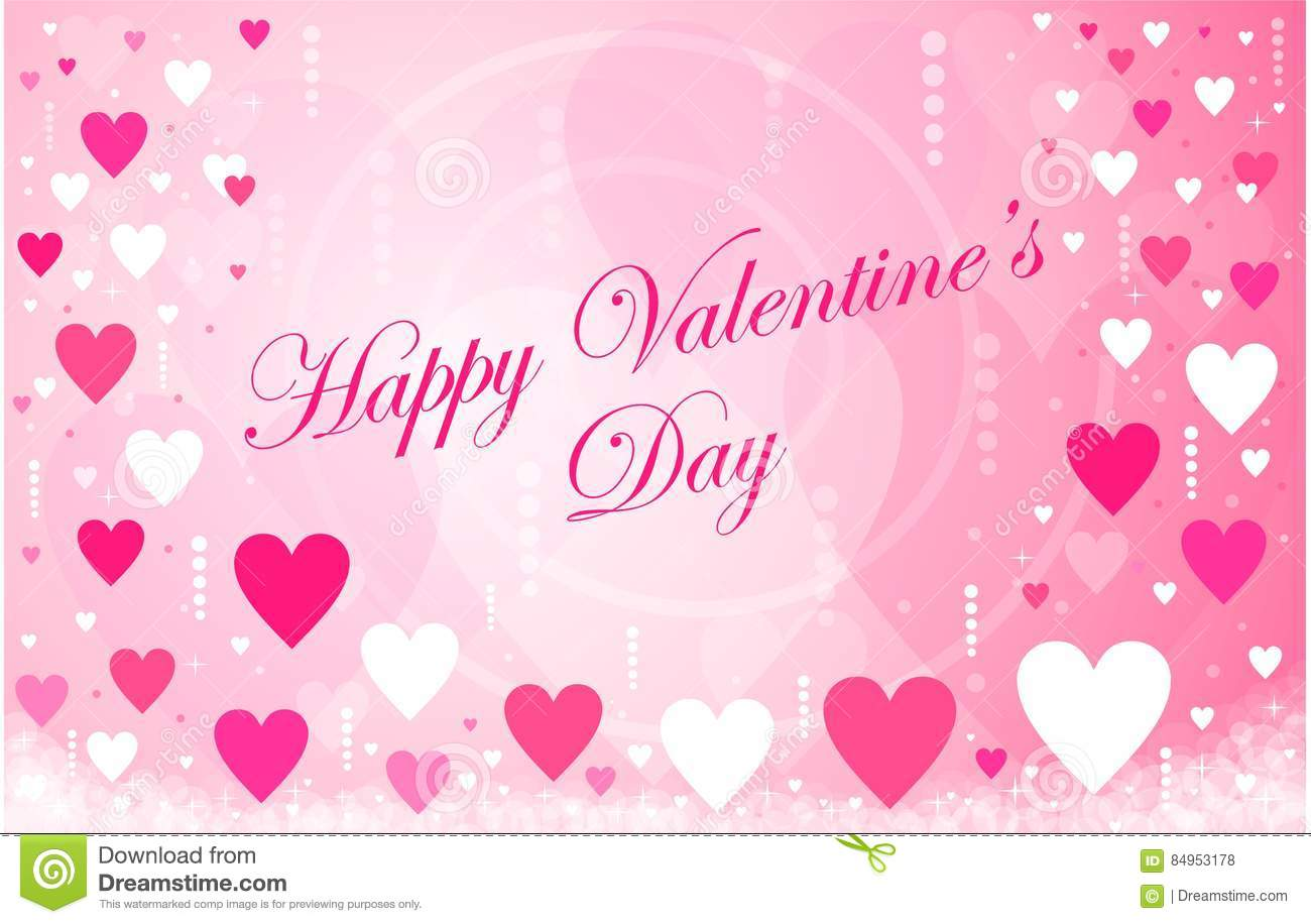 Happy Valentines Day Cursive Font Stock Images Download 2 Royalty