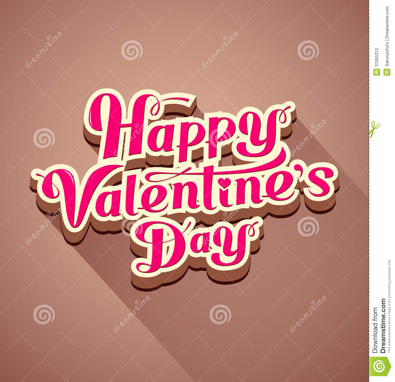 happy valentines day modern message stock vector image 37055312