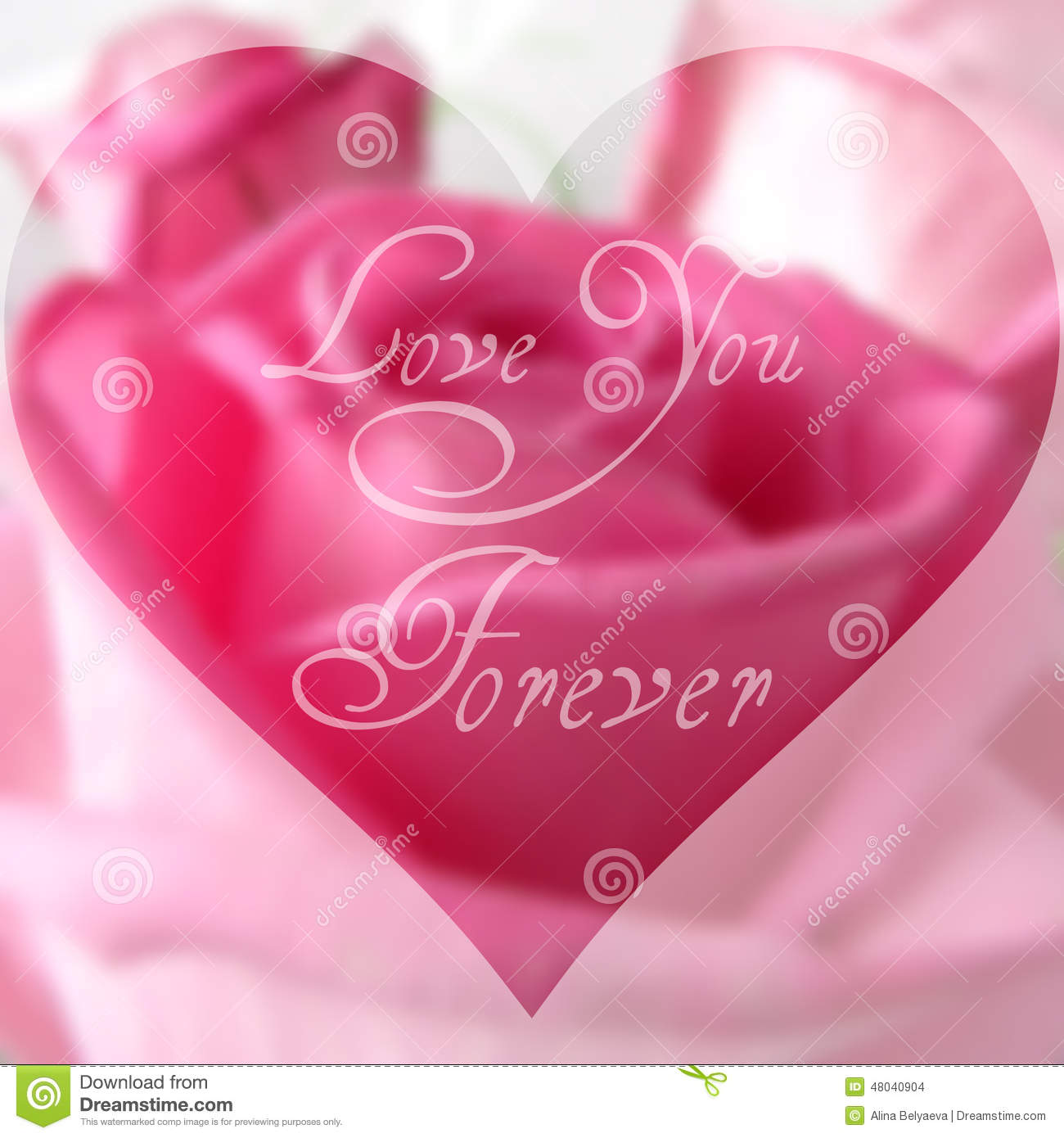 Happy Valentine S Day Text On Blurred Background With Rose Flower